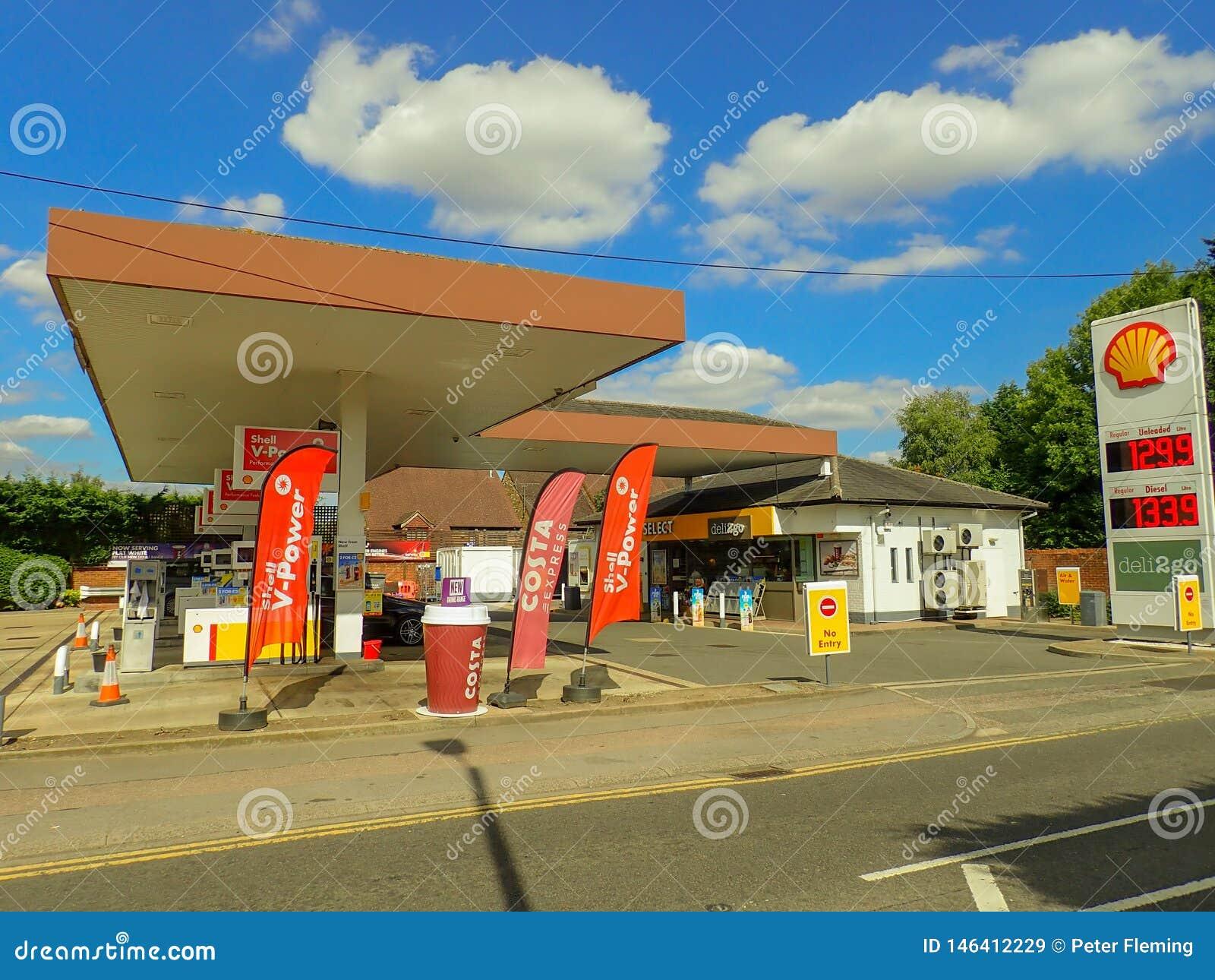Gasolinera de Shell, camino de Rickmansworth, Chorleywood