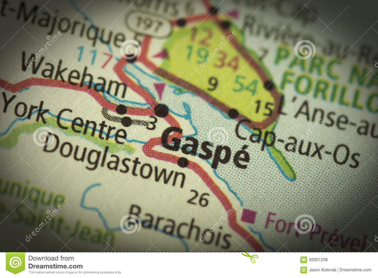 Gaspe Canada Map.Gaspe Quebec On Map Stock Photo Image Of Quebec Political 93001208