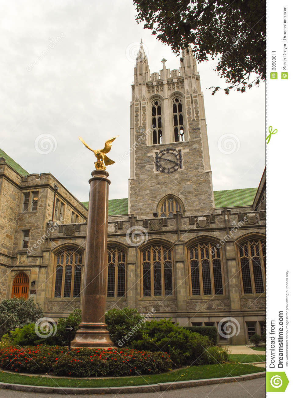 gasson hall boston college stock image image of