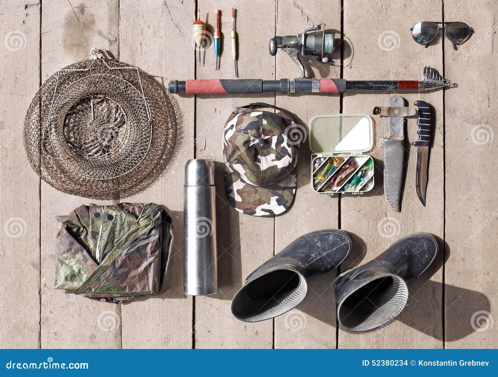 Gastos indirectos del esencial para el pescador Trastos y equipmen de Fshing