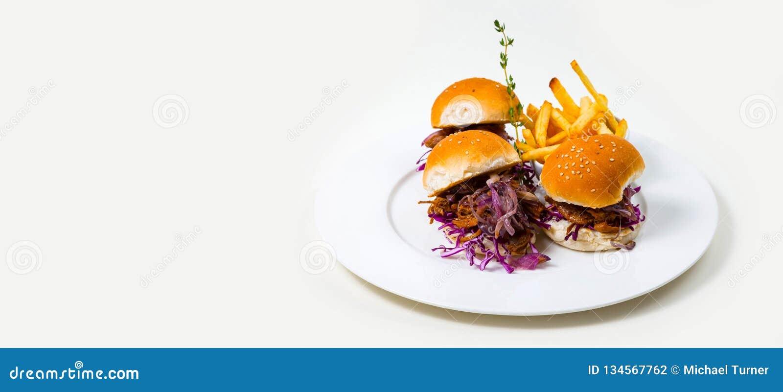 Gastronomisch Barvoedsel op een witte achtergrond