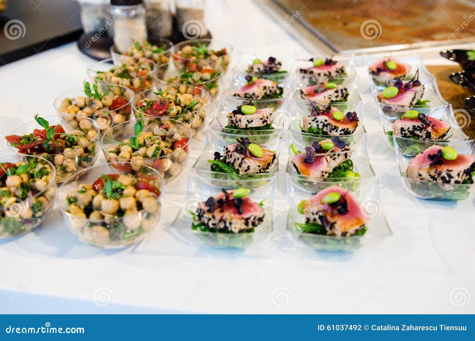Gastronomisch cateringsvoedsel