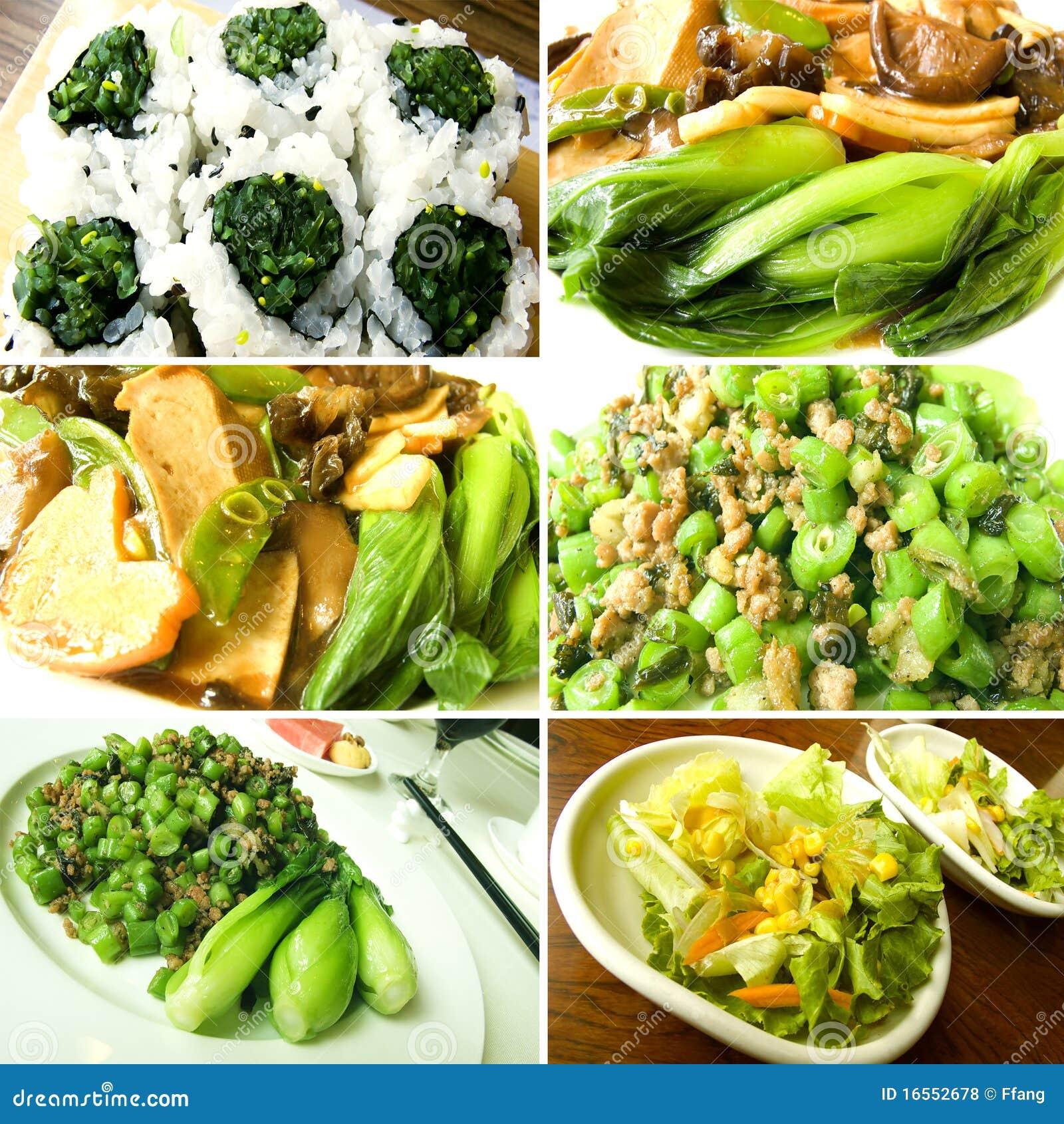 Gastronomische voedselcollage