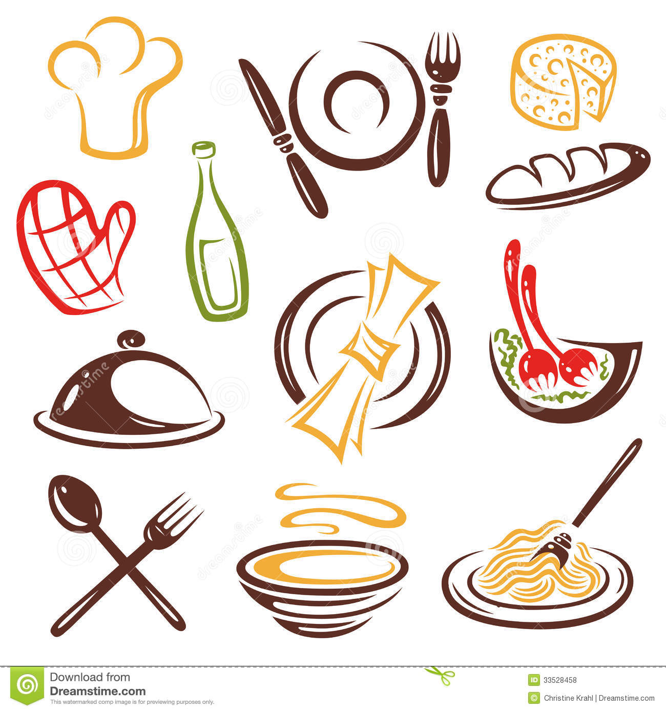 Gastronomy stock vector illustration of collection - Utensilios de chef ...