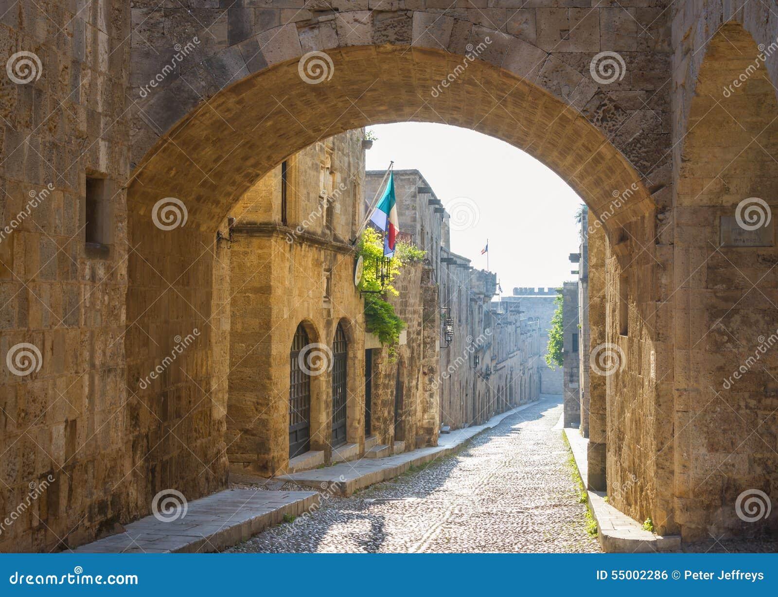 Gata av riddarna i Rhodes, Grekland