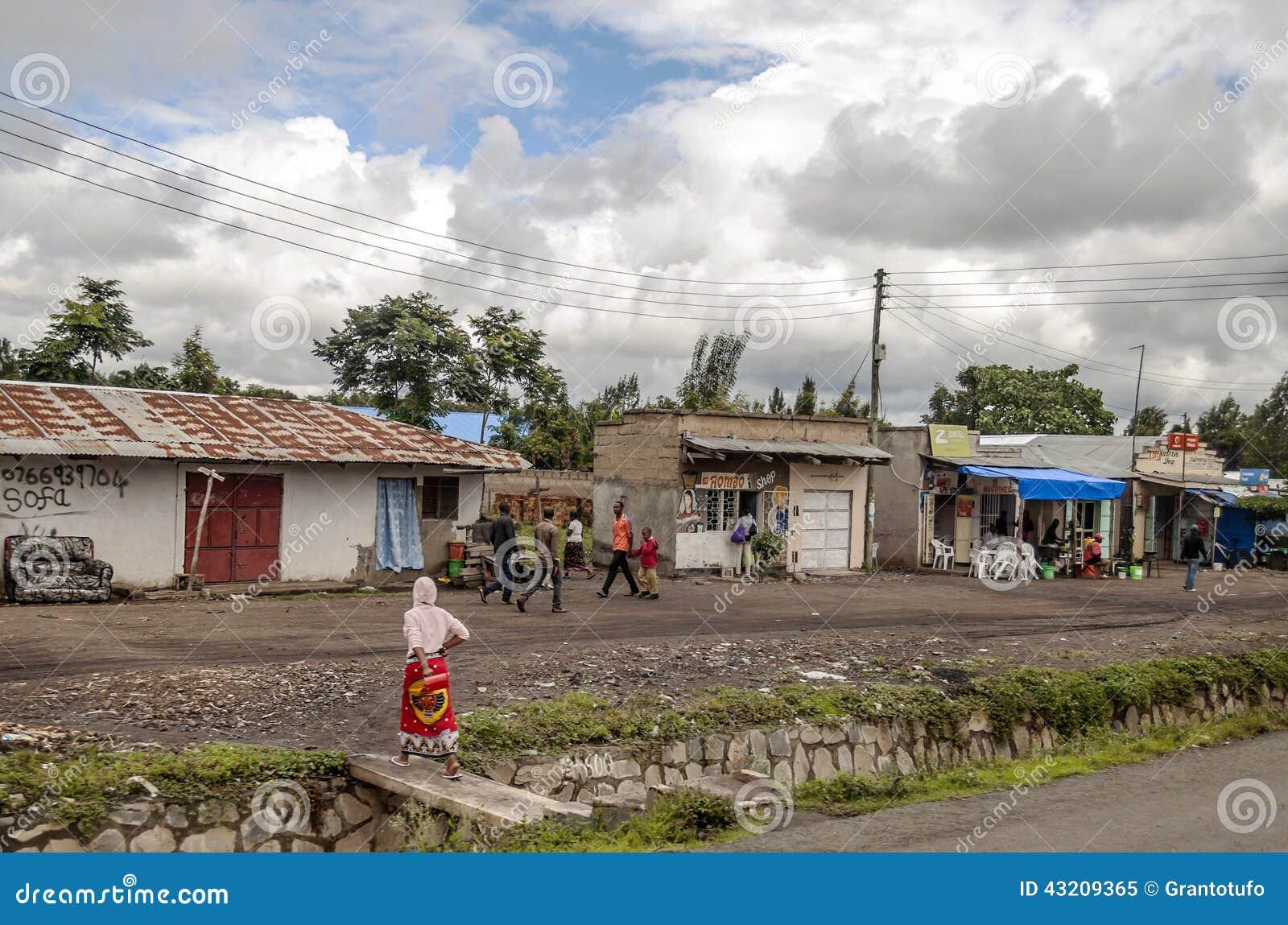 Download Gata av Tanzania redaktionell foto. Bild av färgrikt - 43209365