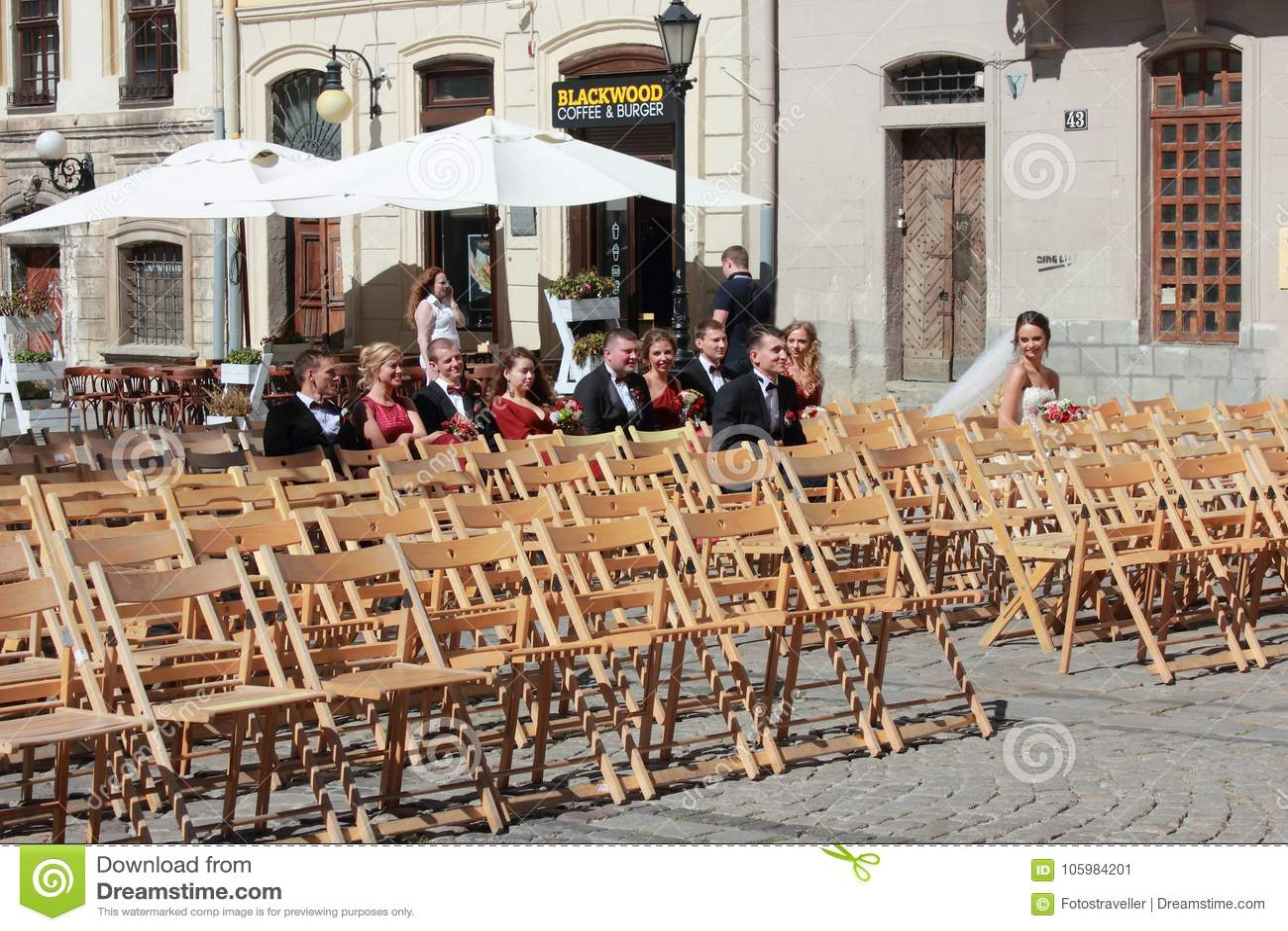 Gataberöm av bröllopet