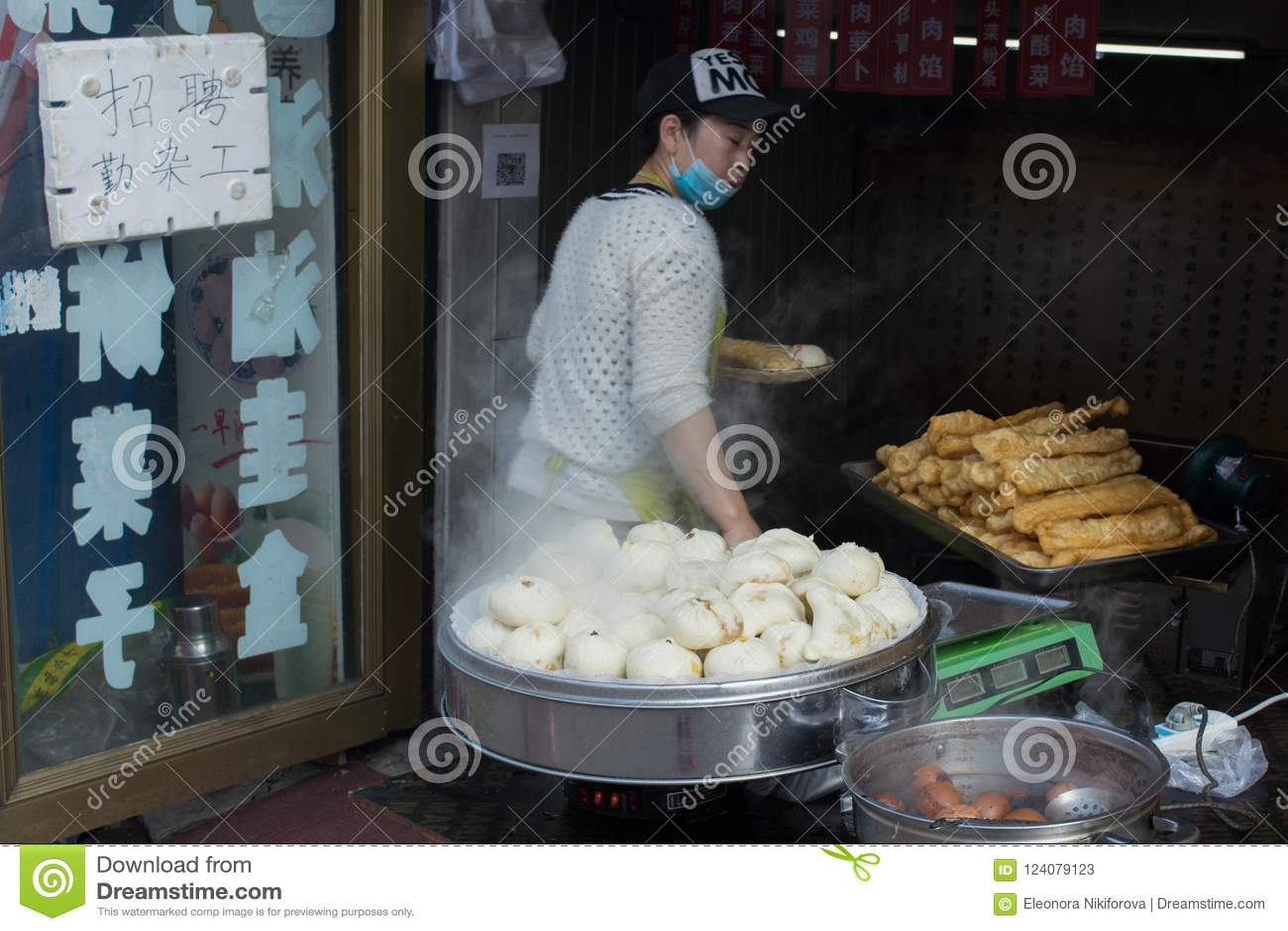 Gatamat, i Kina och att laga mat den