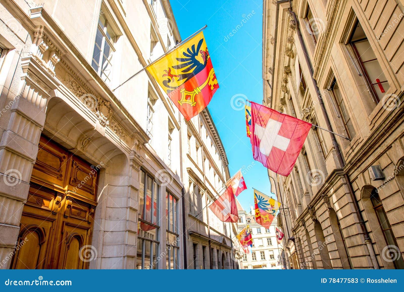 Gatasikt i Genèvestad