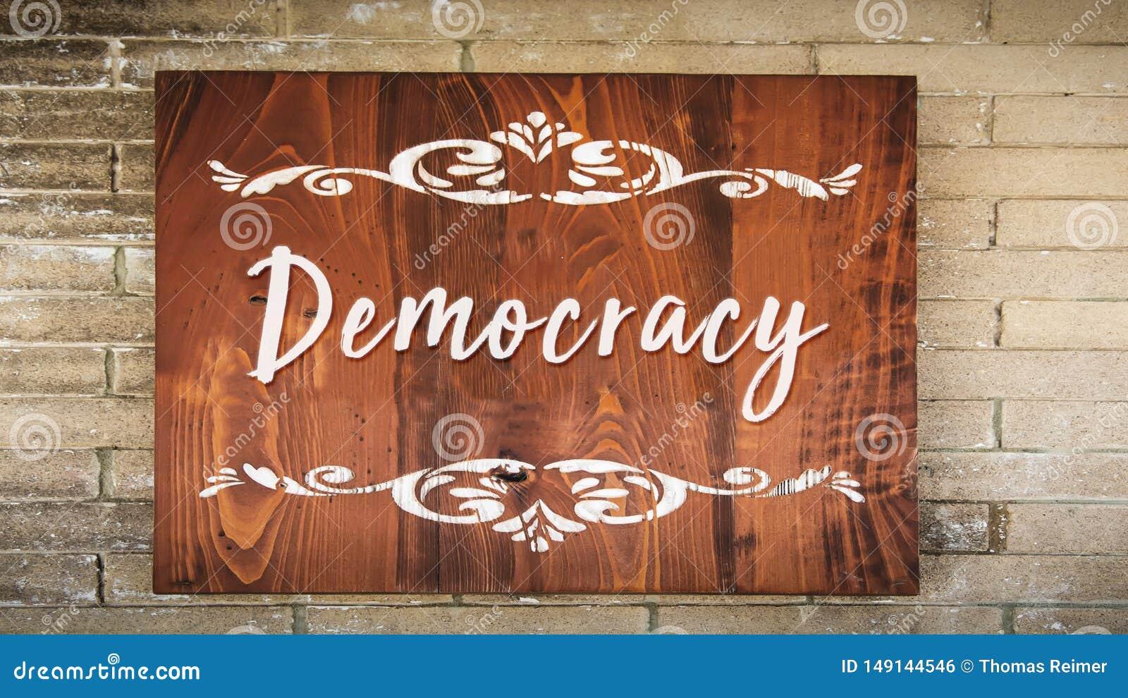 Gatatecken till demokrati