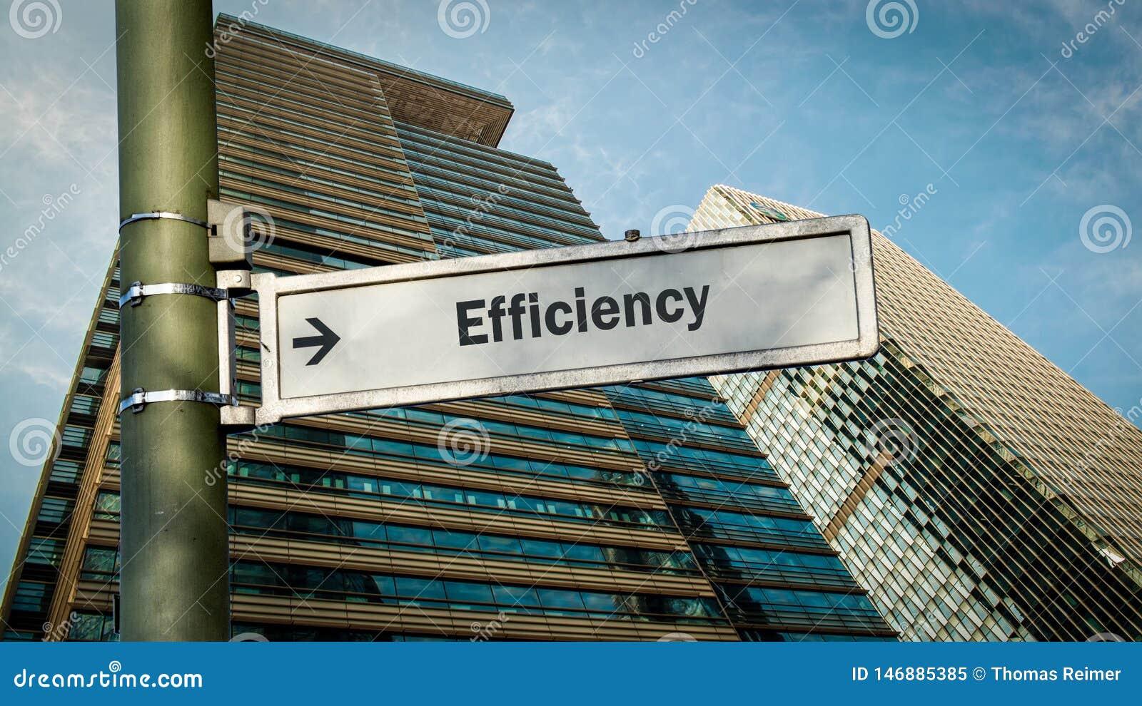 Gatatecken till effektivitet