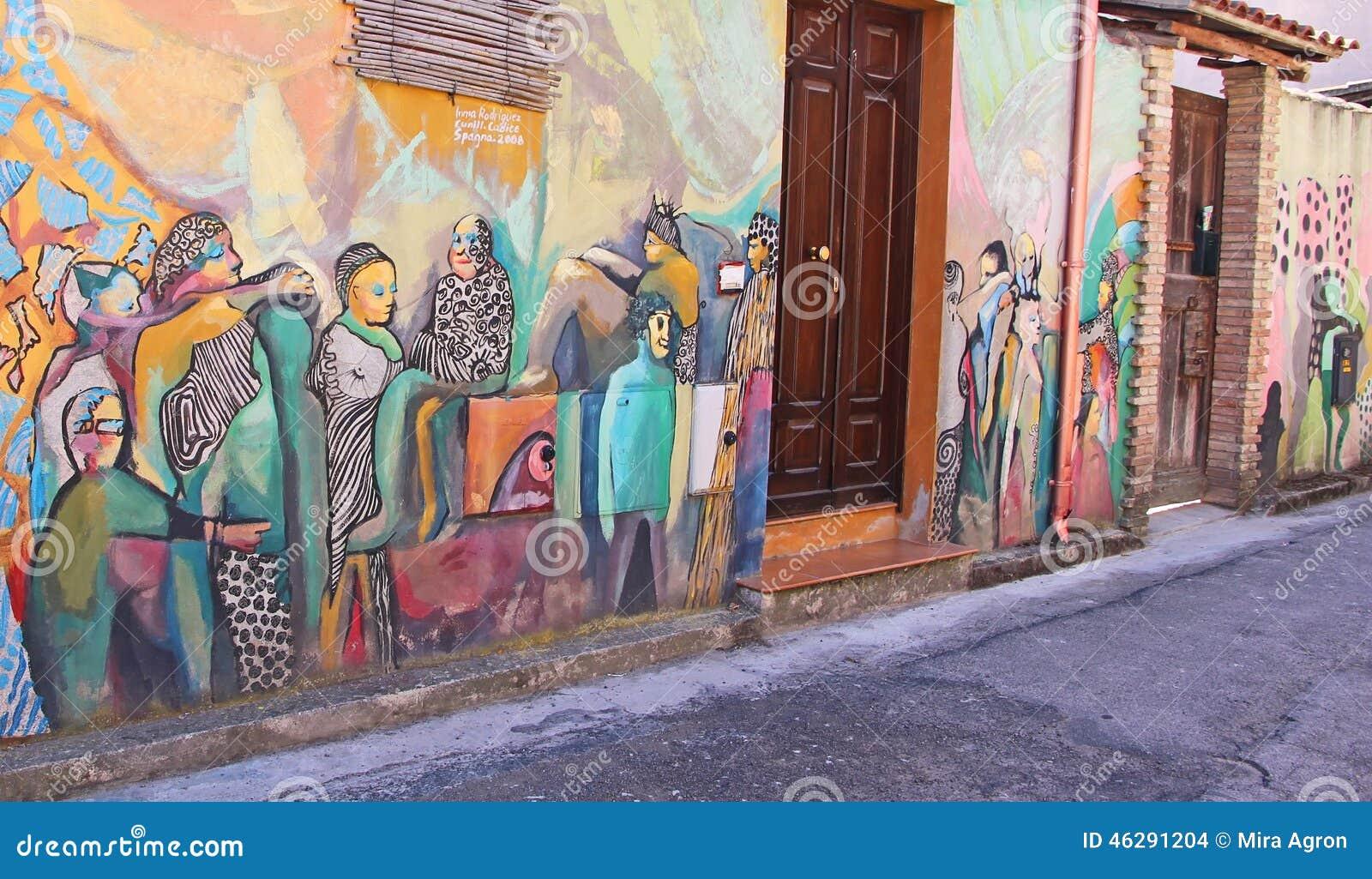 Gataväggmålning i Sardinia