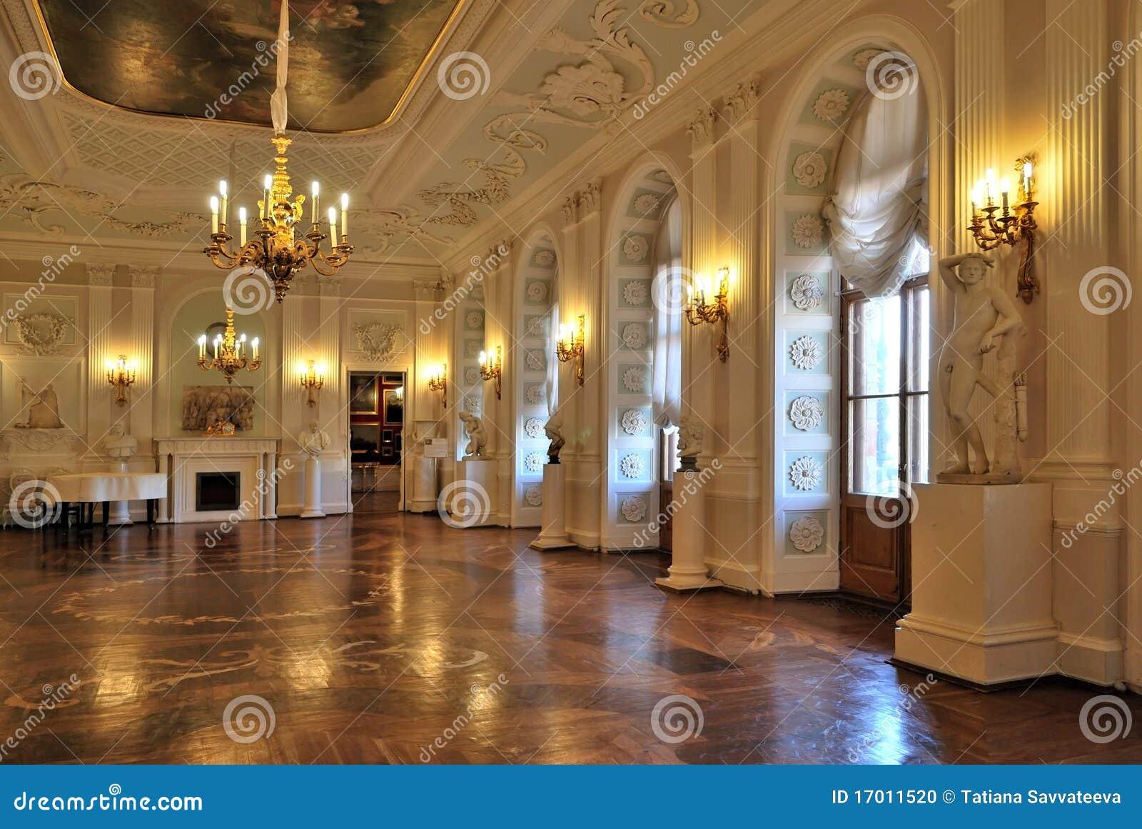 gatchina大厅宫殿彼得斯堡st白色.图片