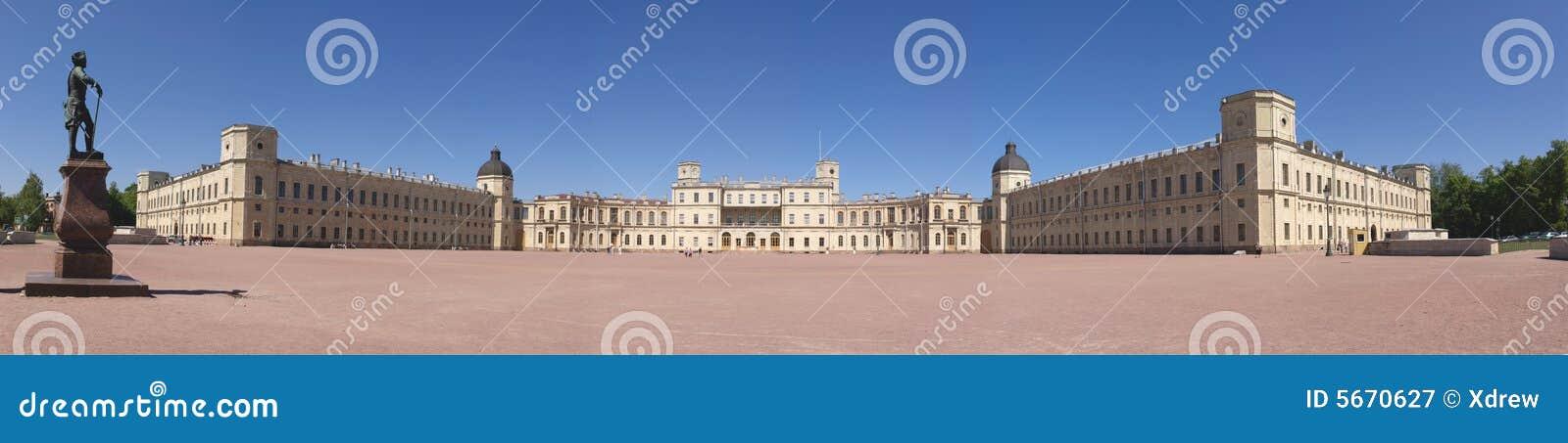 Gatchina panorama pałacu.