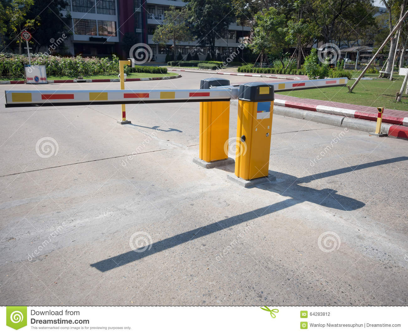 Gate Barrie stock photo  Image of white, entrance, barriers - 64283812