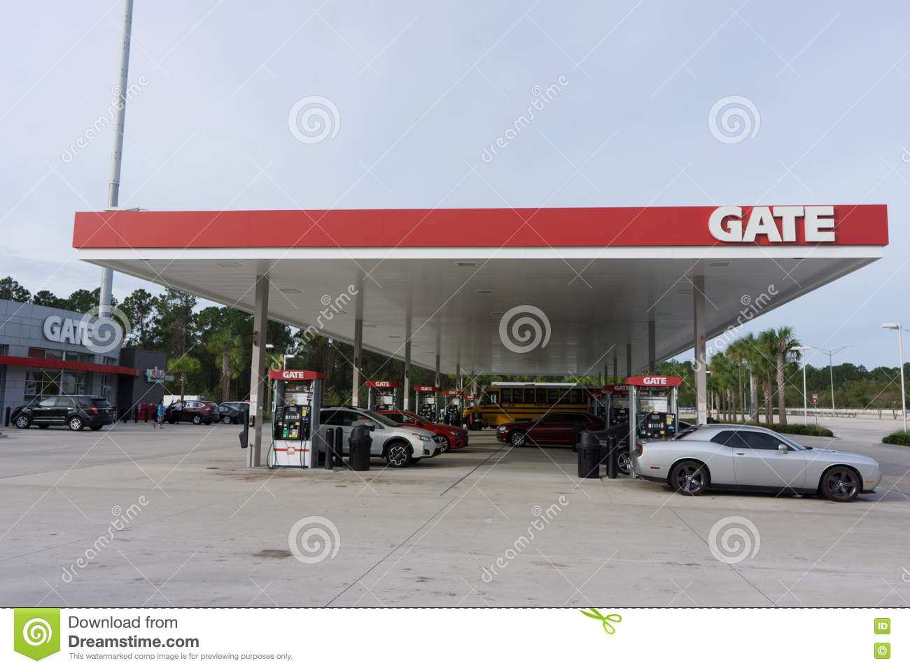 Gate Gas Station Editorial Photo - Image: 79646166