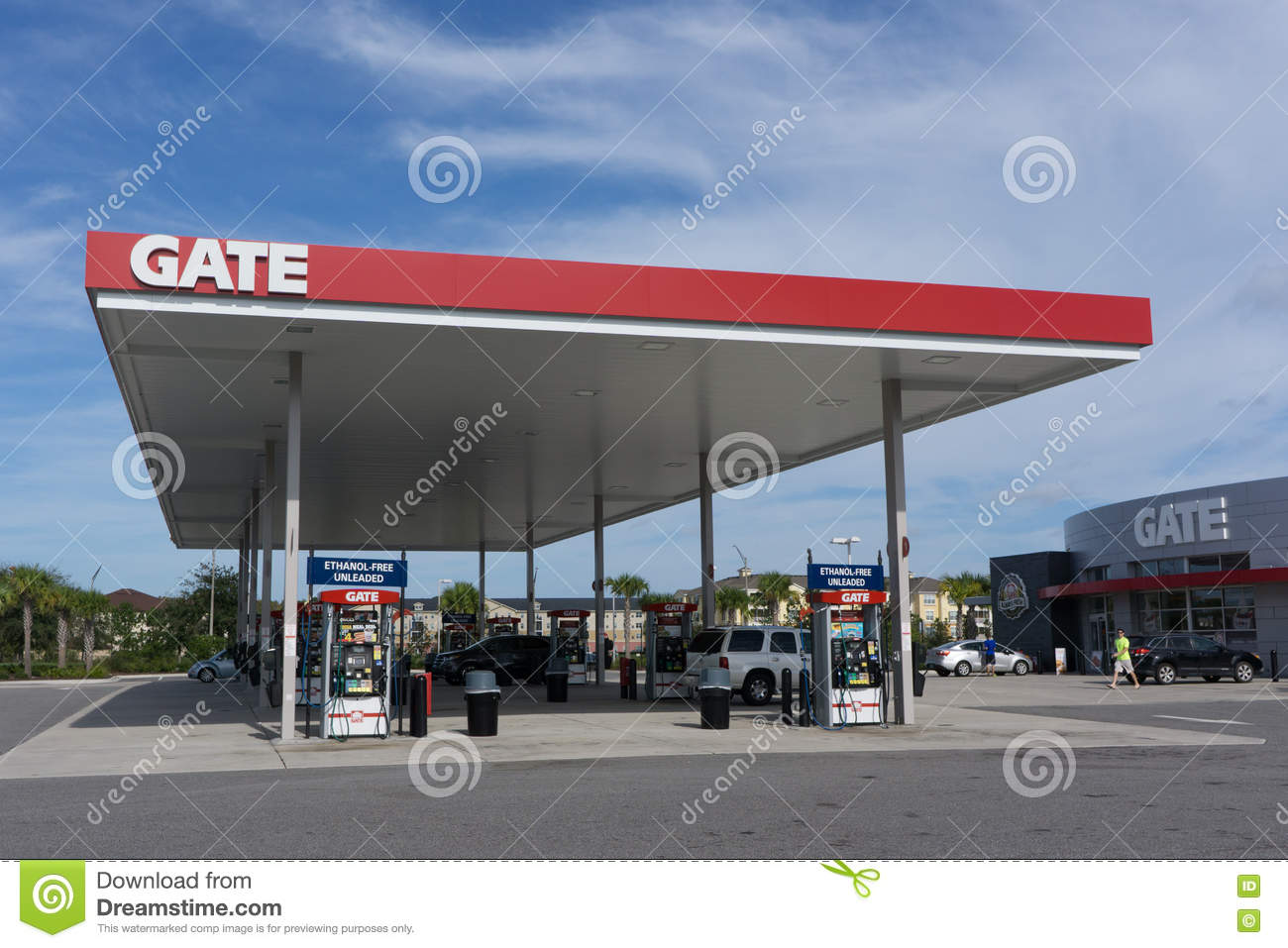 Gate Gas Station Editorial Image - Image: 79728545
