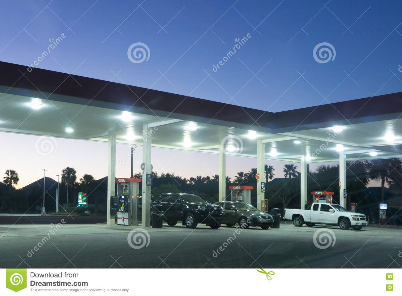 Gate Gas Station Editorial Stock Image - Image: 79342954