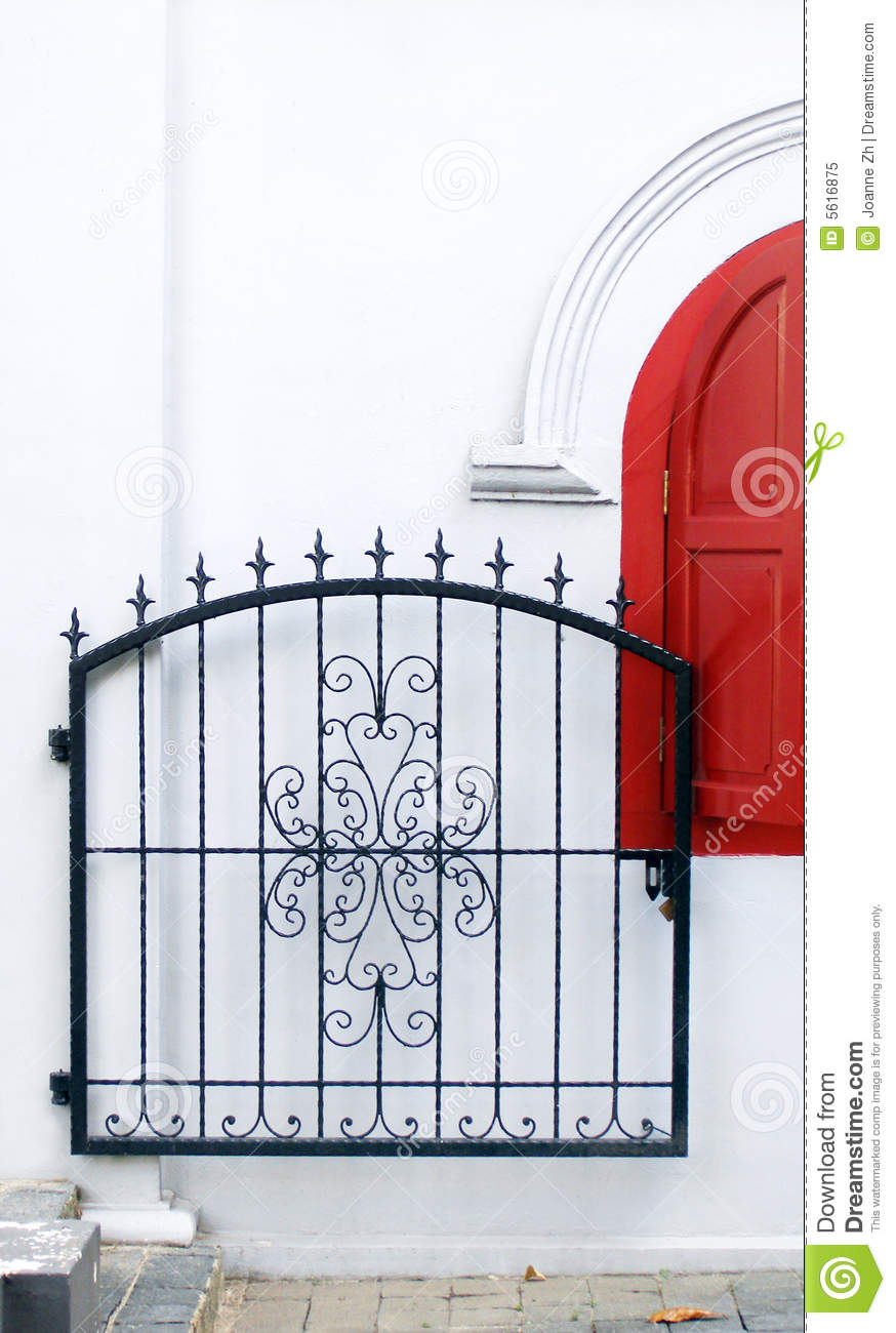 Gate iron ornate wrought