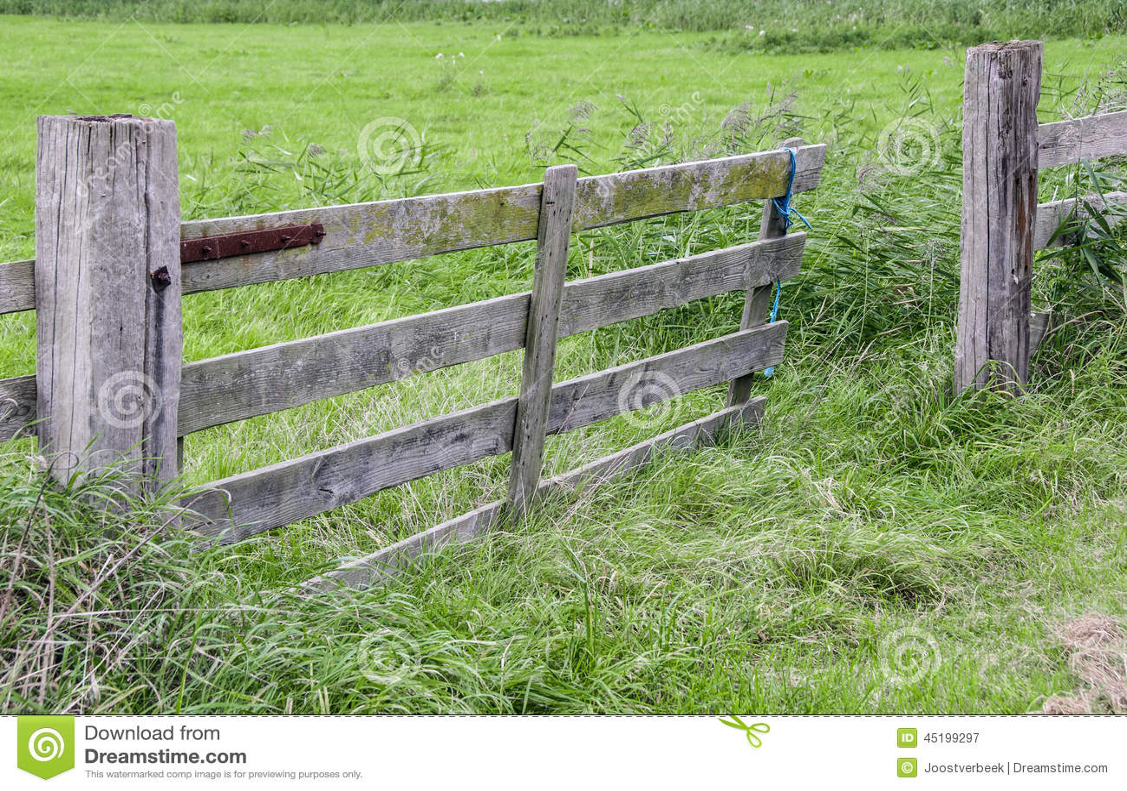 Gate left open stock photo image