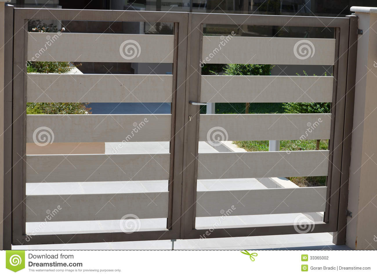 Gate stock photography image 33365002 for Small house gate design