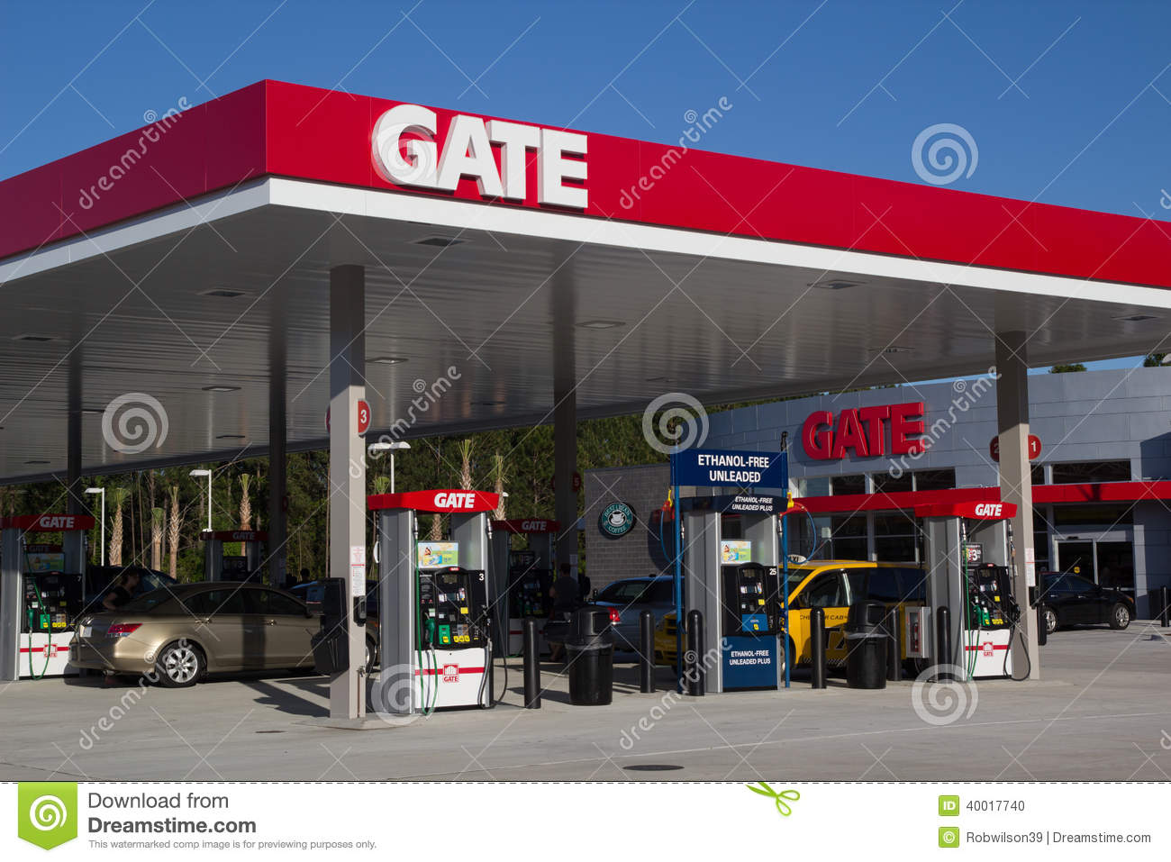 Gate Gas Station Editorial Stock Image - Image: 57622014