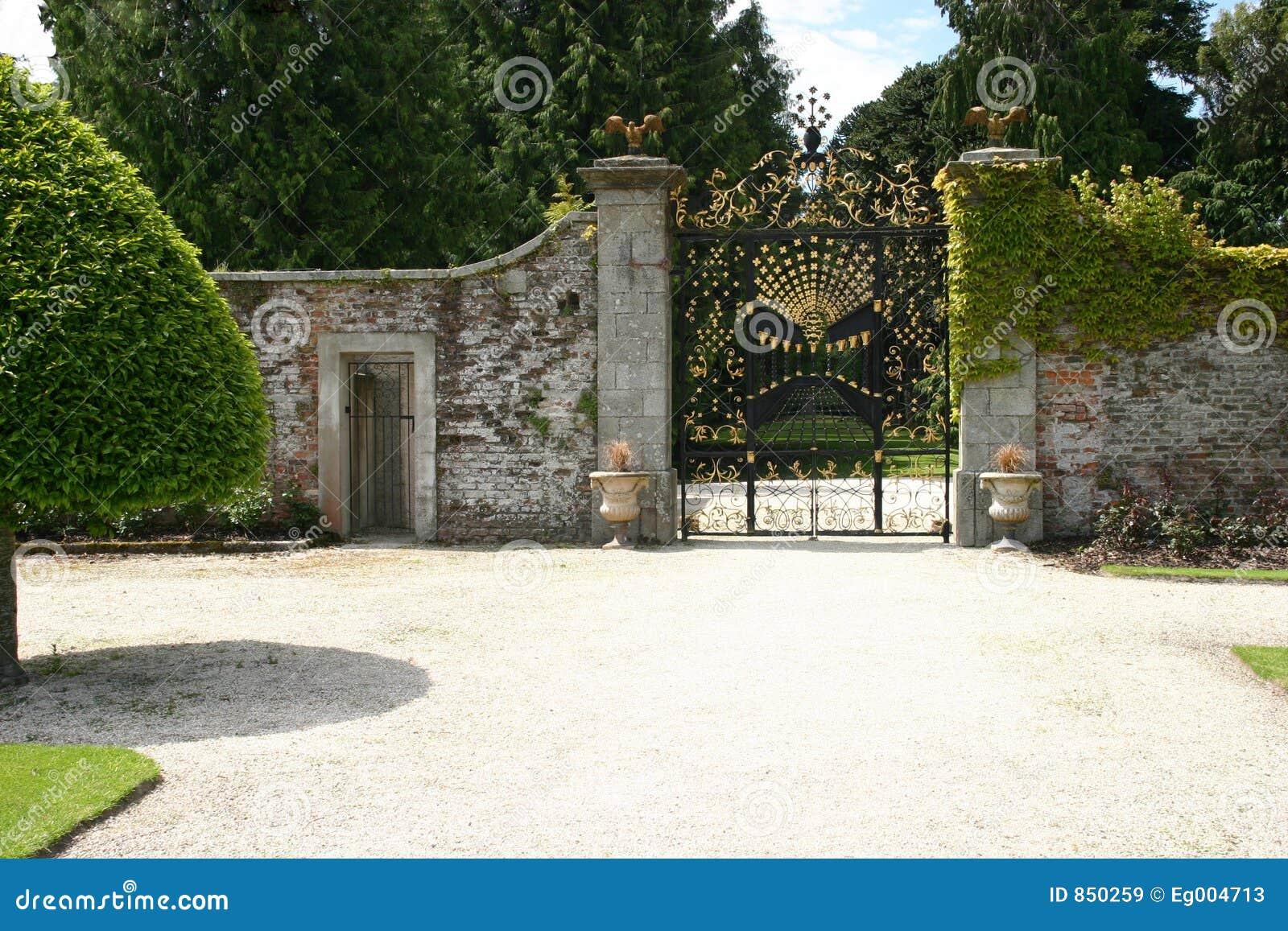 Gate At Powerscourt House Gardens Stock Image Image 850259