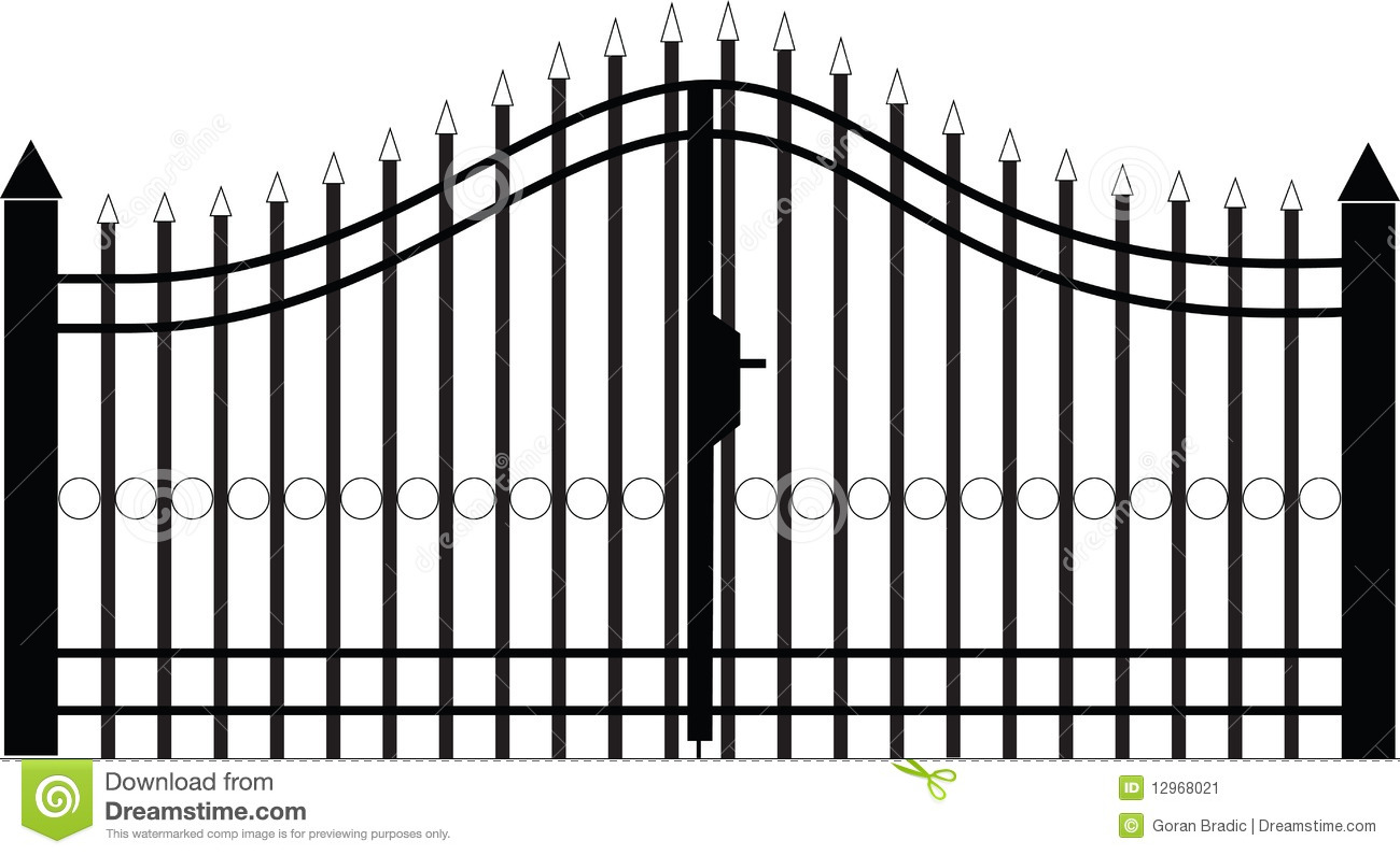 Gate Silhouette Vector Stock Vector Image Of Curve