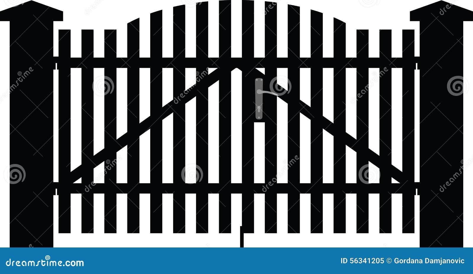 Gate Silhouette Vector Cartoon Vector Cartoondealer Com
