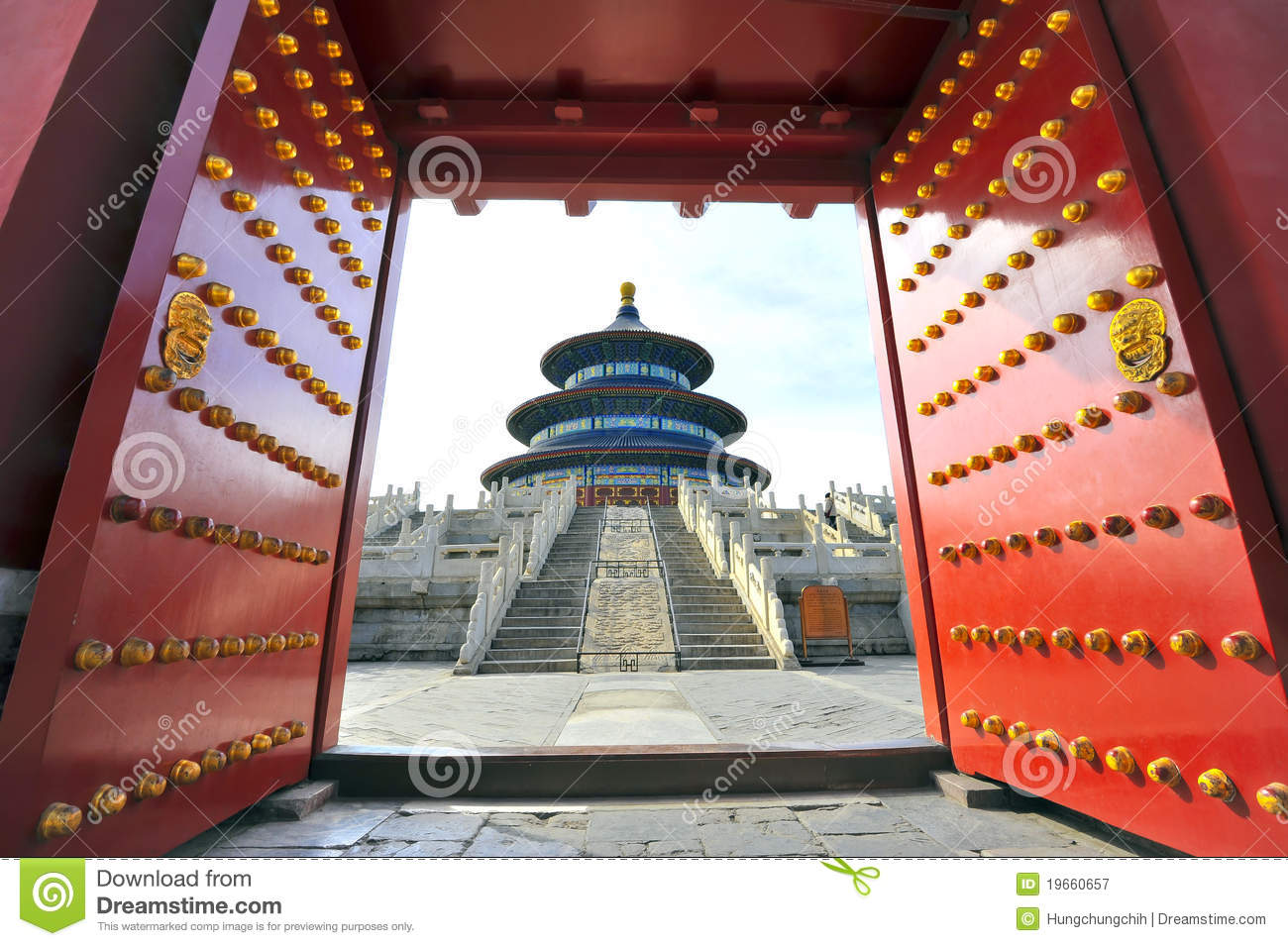 Gate To China Temple Of Heaven In China Stock Image