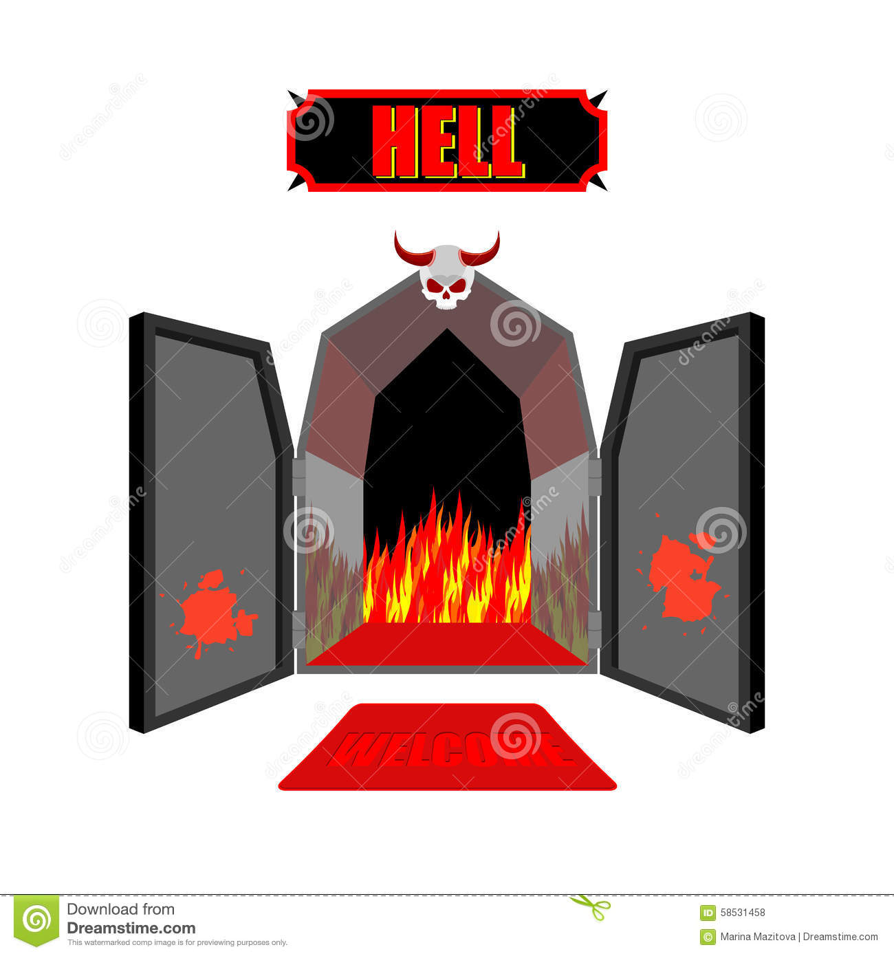 Gate To Hell. Entrance To Hellish Inferno. Access To Satan ...