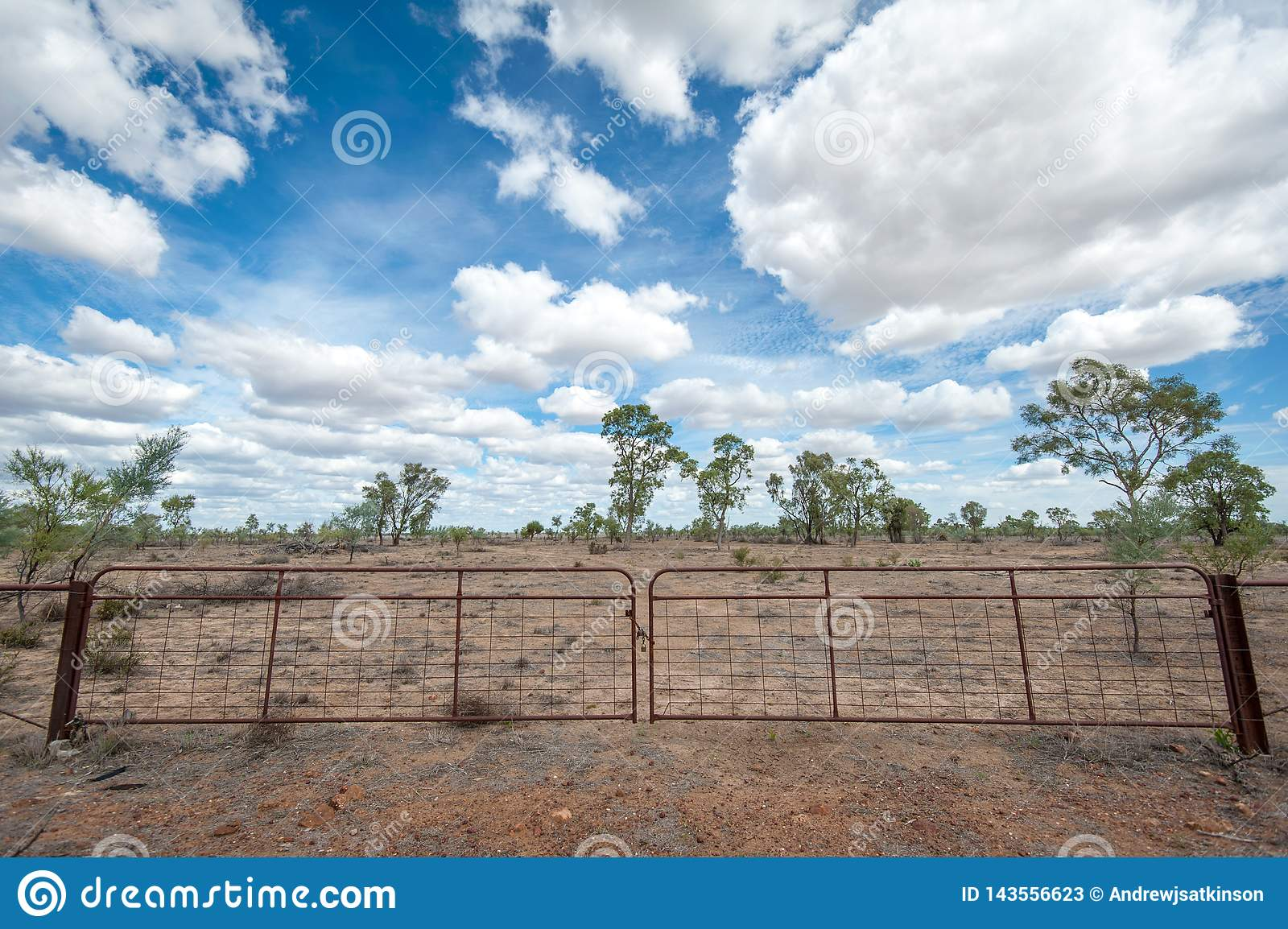 Gate to an outback property in the dry