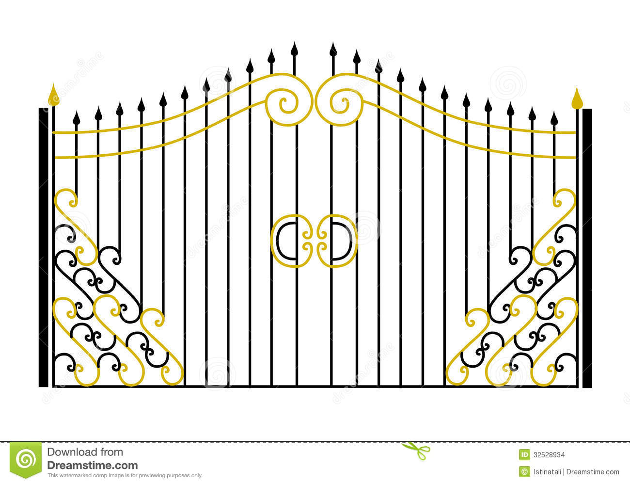 Gate In The Vector Stock Vector. Illustration Of Element