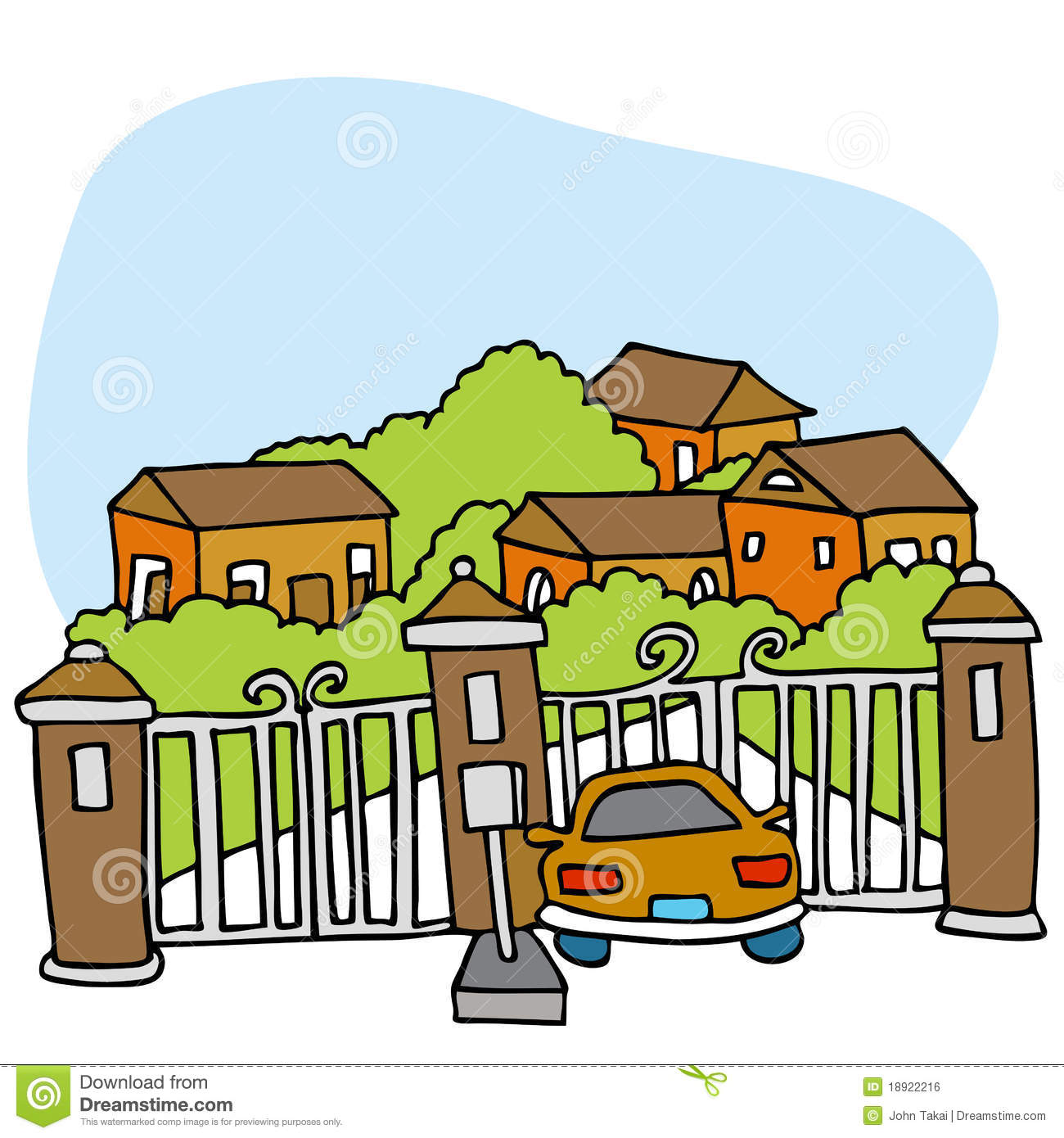 Gated community stock vector image of millionaire