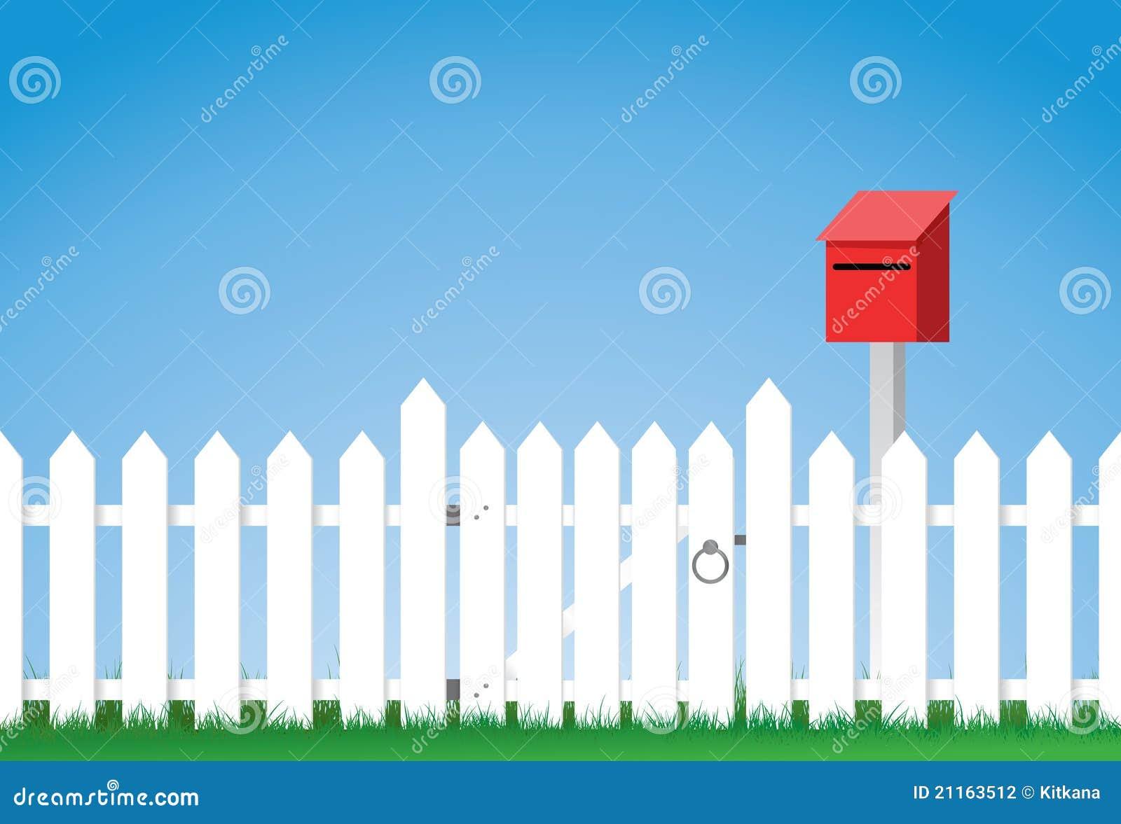 Gated White Picket Fence Stock Photography Image 21163512