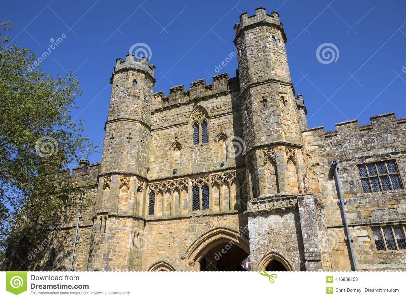 Gatehouse of Battle Abbey in Sussex