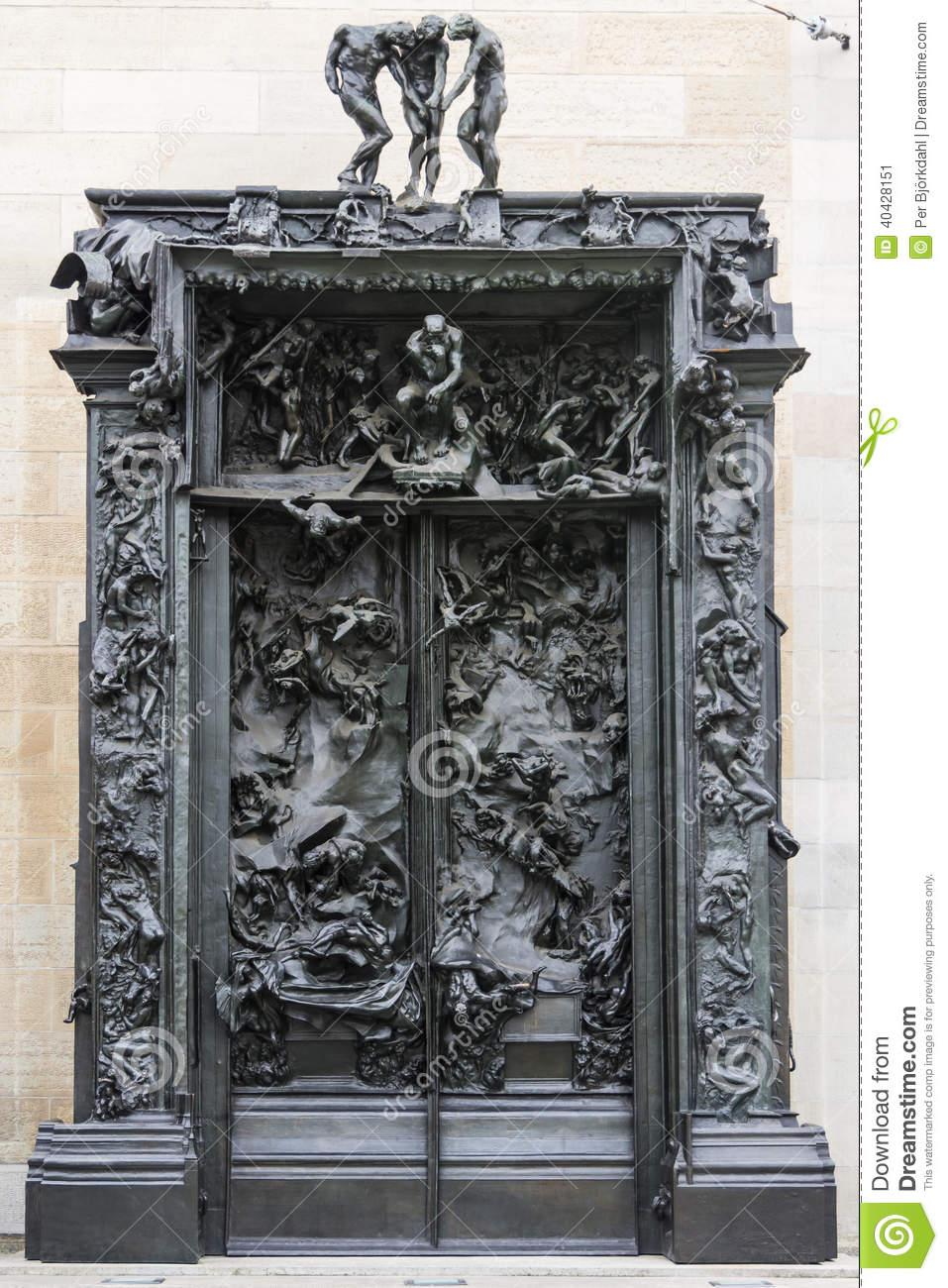 The gates of hell zurich stock image image of zuerich 40428151 - La porte de l enfer rodin ...