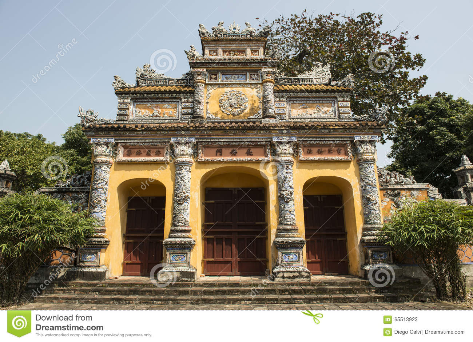 Gateway in the Forbidden Purple City in Hue, Vietnam.