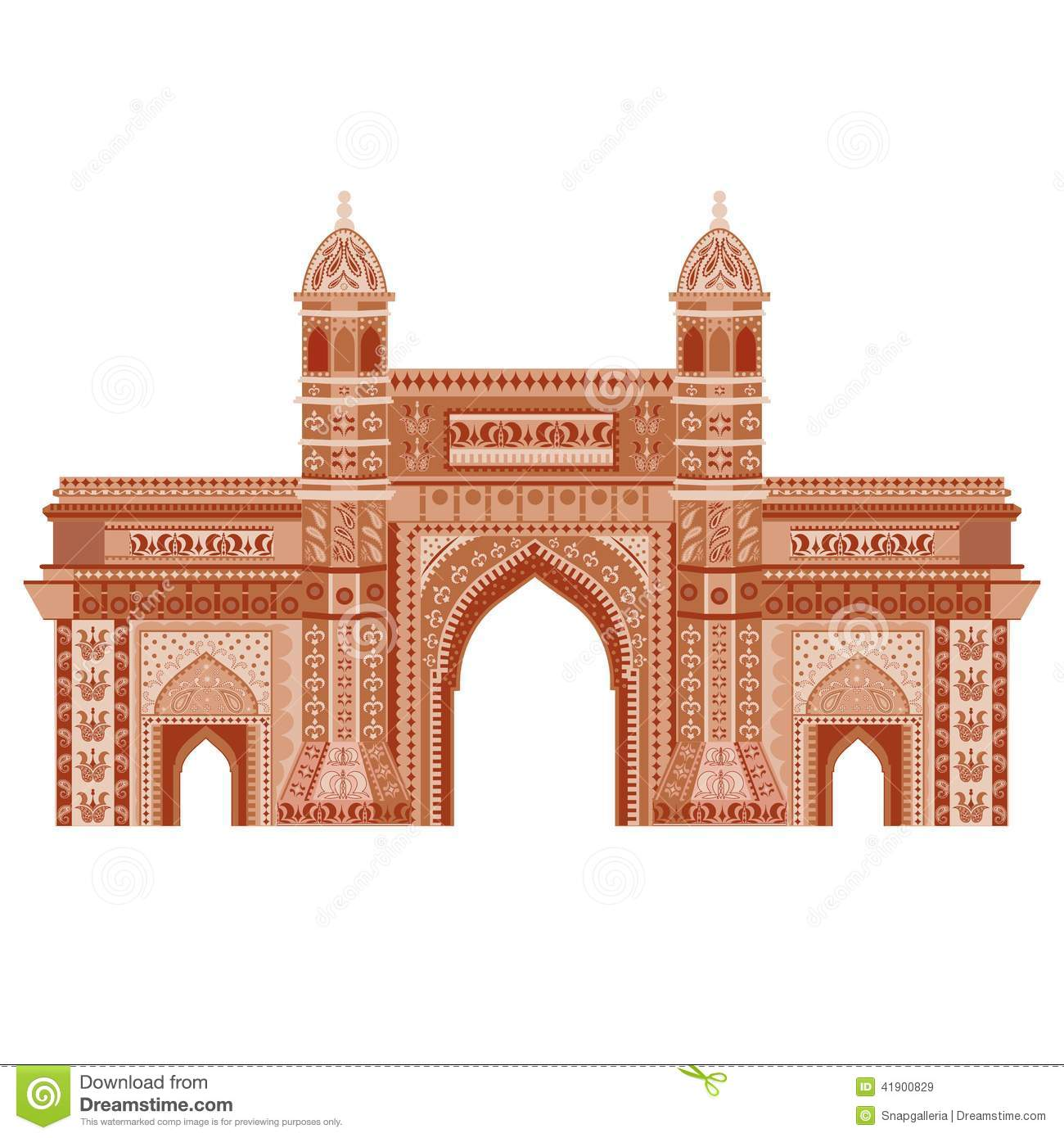 gateway of india stock vector image 41900829 Garden Gate Clip Art india gate image clipart