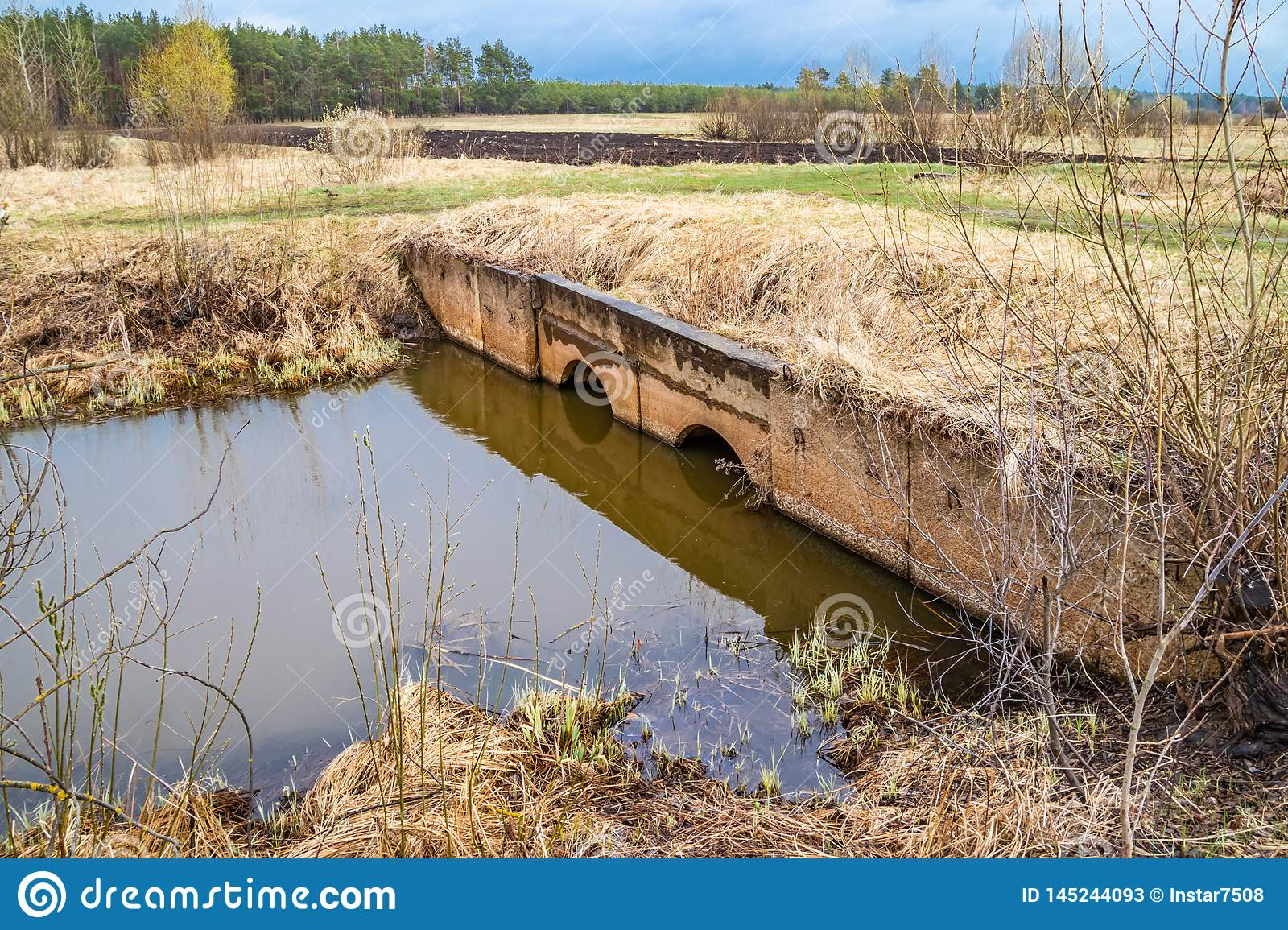 Land reclamation system for irrigation of fields