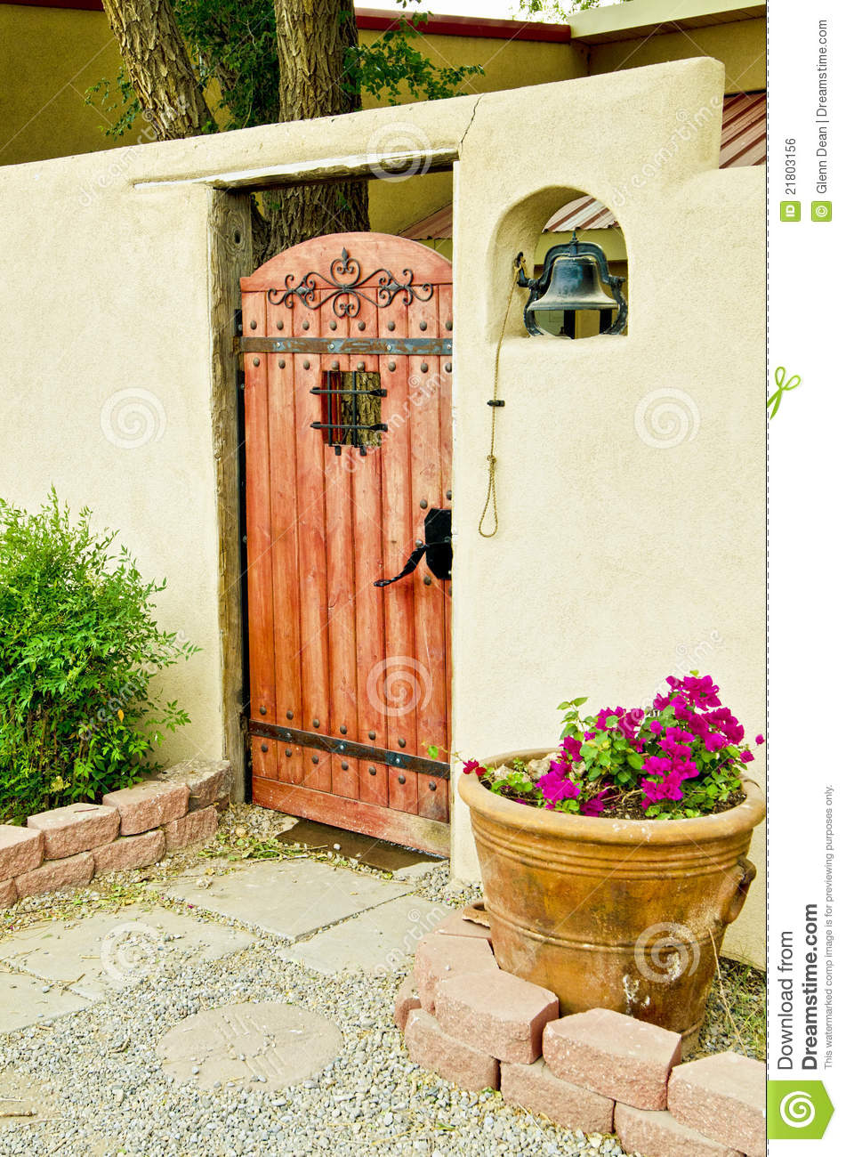Gateway To Spanish Courtyard Royalty Free Stock Image