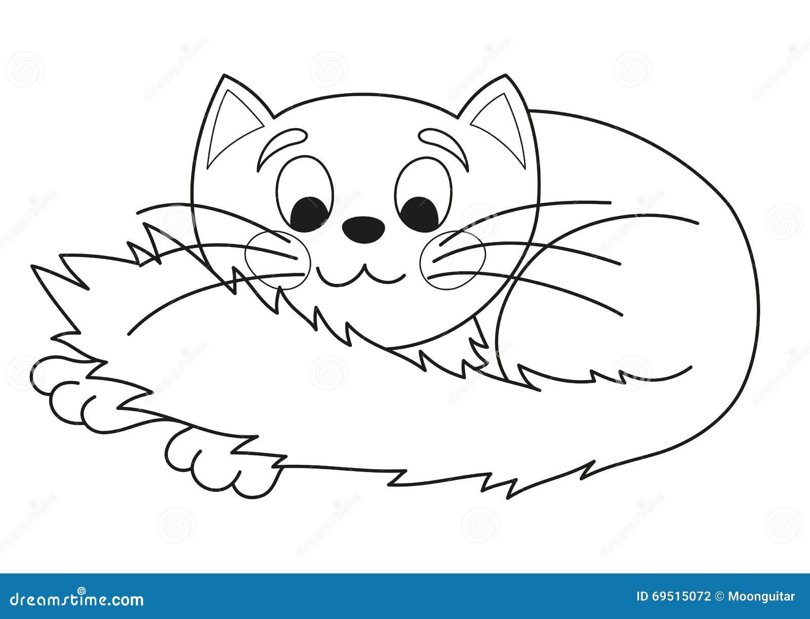 Gatito Regordete De La Historieta Ejemplo Del Vector Del Gato Lindo