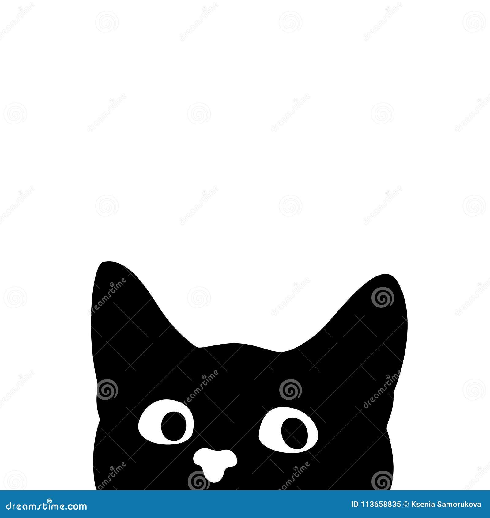 Gato curioso Etiqueta engomada en un coche o un refrigerador