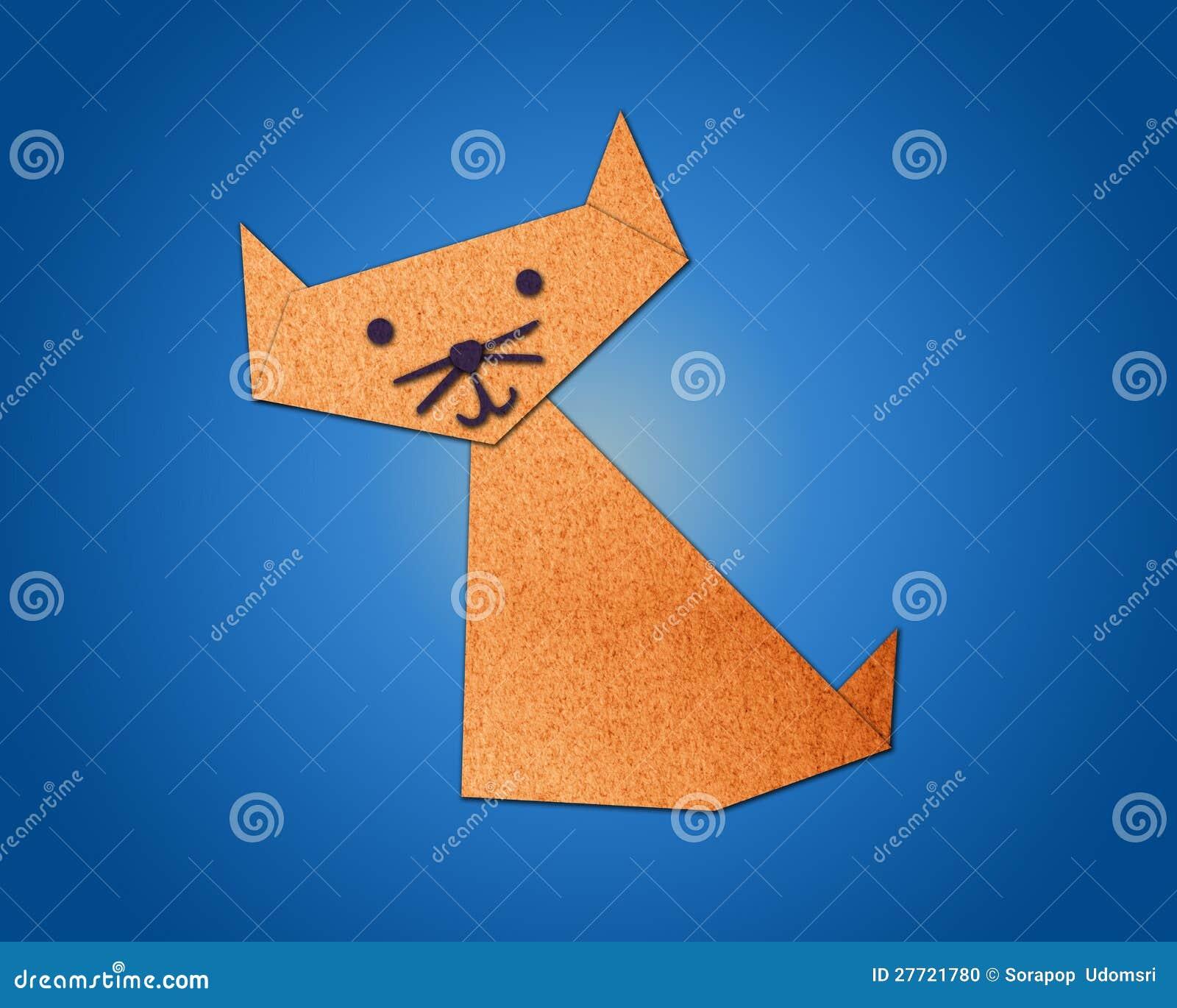 gato de origami feito do papel foto de stock imagem. Black Bedroom Furniture Sets. Home Design Ideas