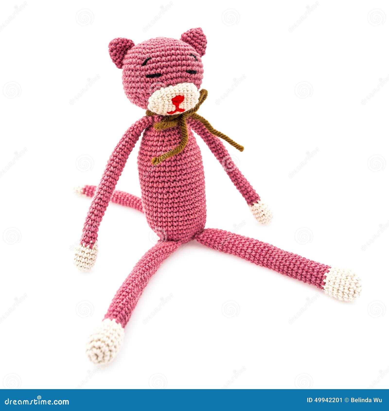 Gato del ganchillo imagen de archivo. Imagen de gato - 49942201