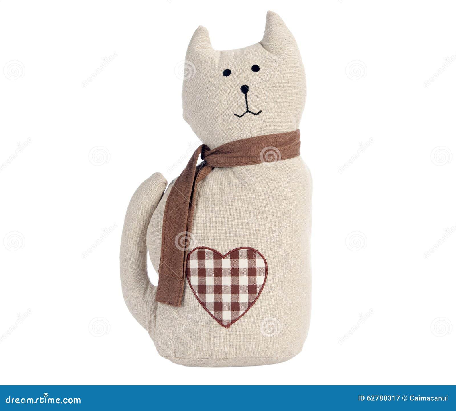Gato Del Juguete Aislado En Blanco Imagen de archivo - Imagen de ...