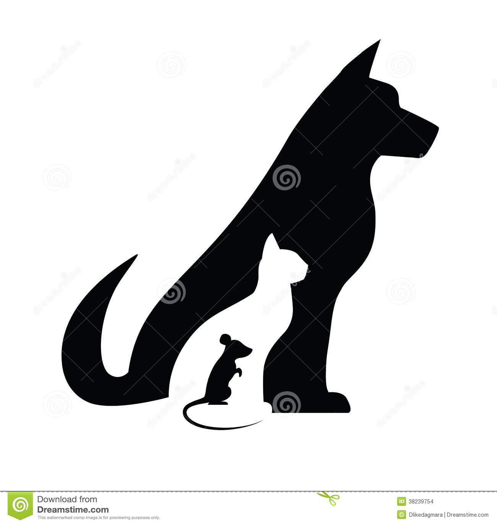 Gato e rato do cão