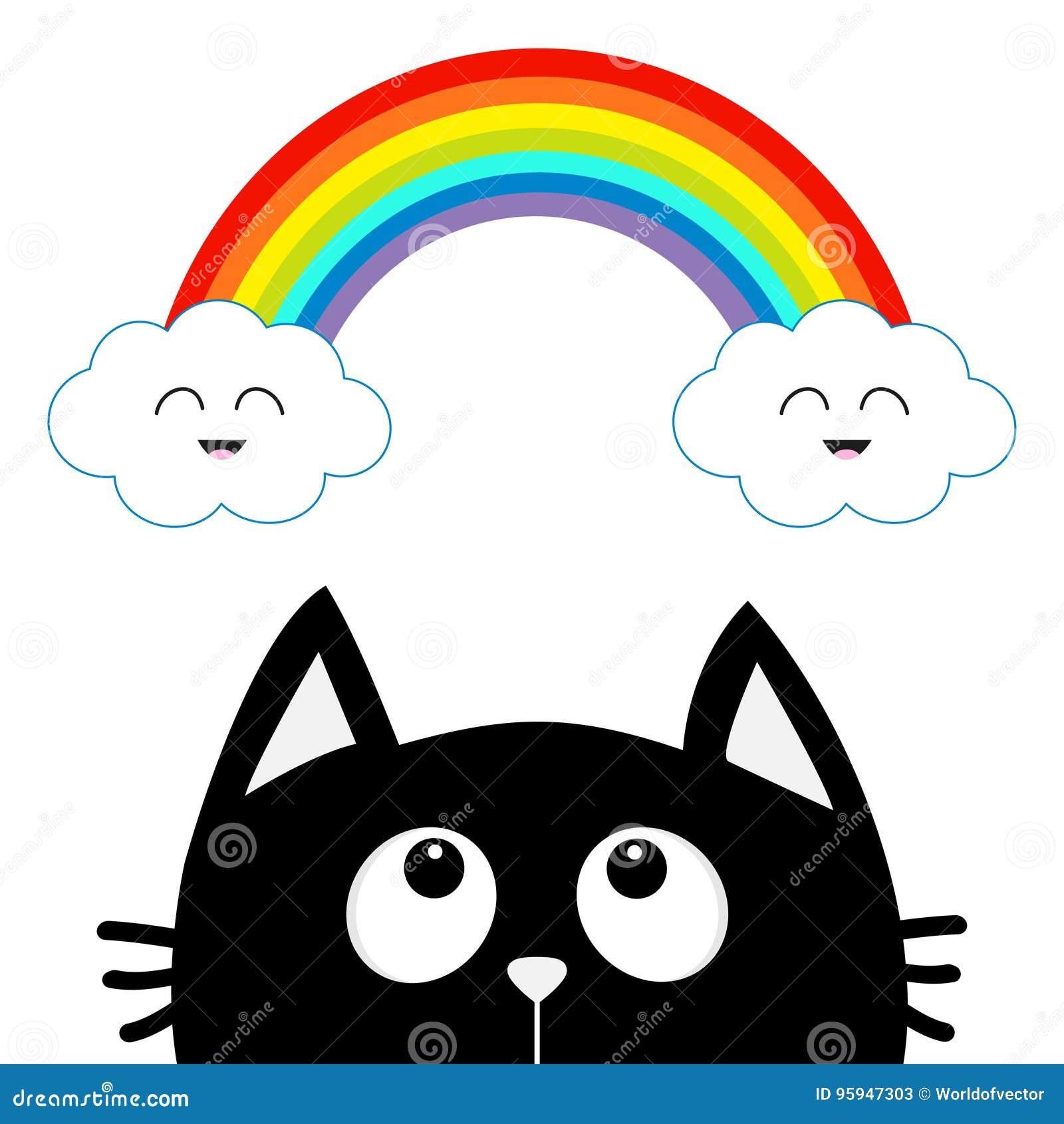 Dibujos Para Colorear Arcoiris Nubes