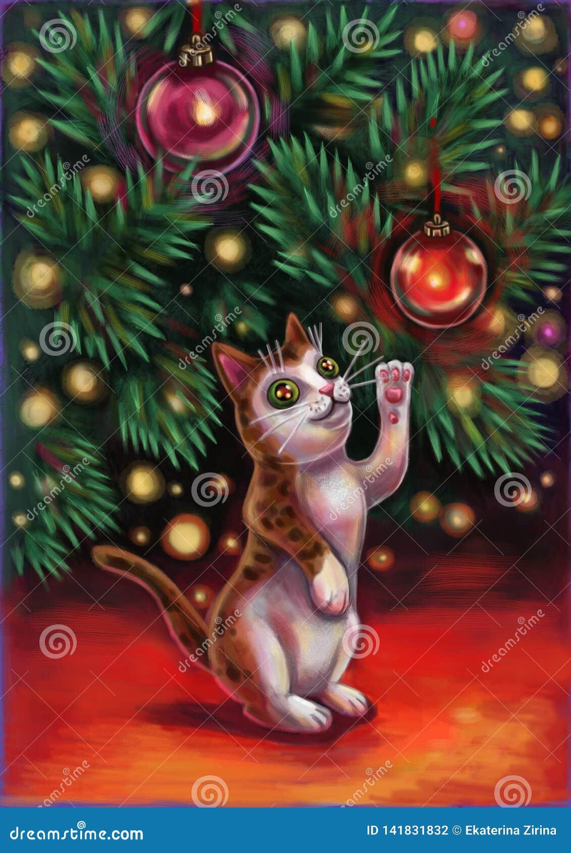 Gato sob a árvore