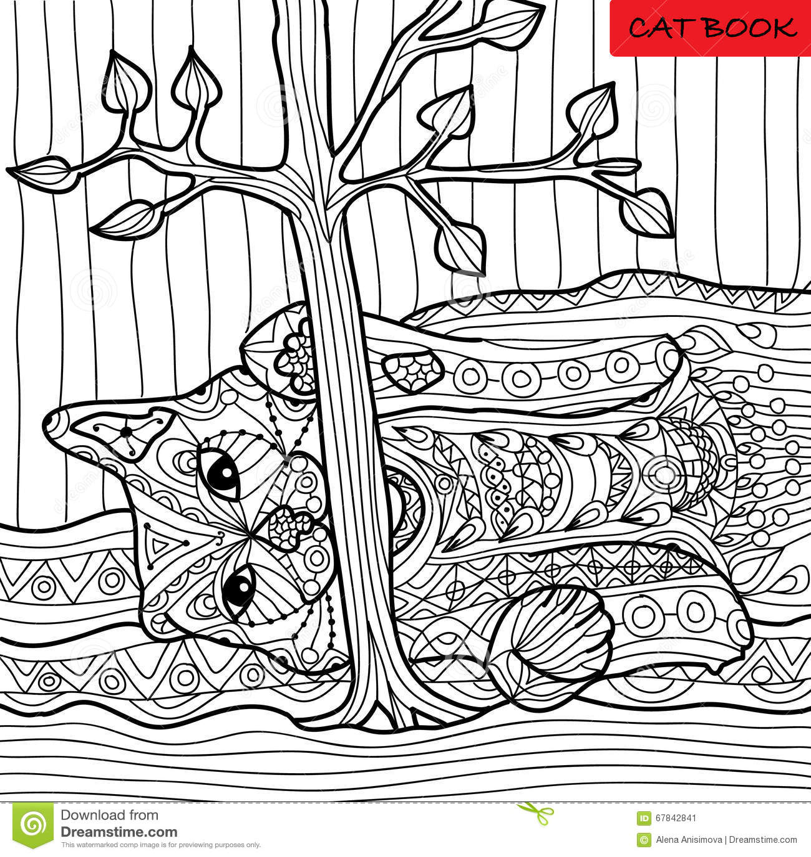 Gato Travieso - Libro De Colorear Para Los Adultos, Modelos Del ...